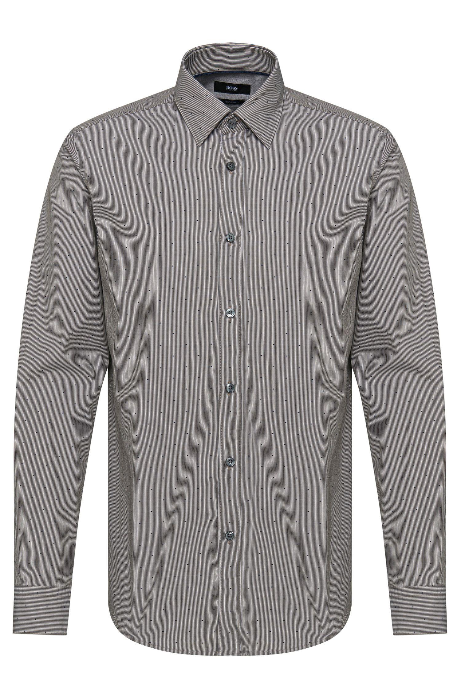 Camicia regular fit a righe in puro cotone: 'Lukas_40'