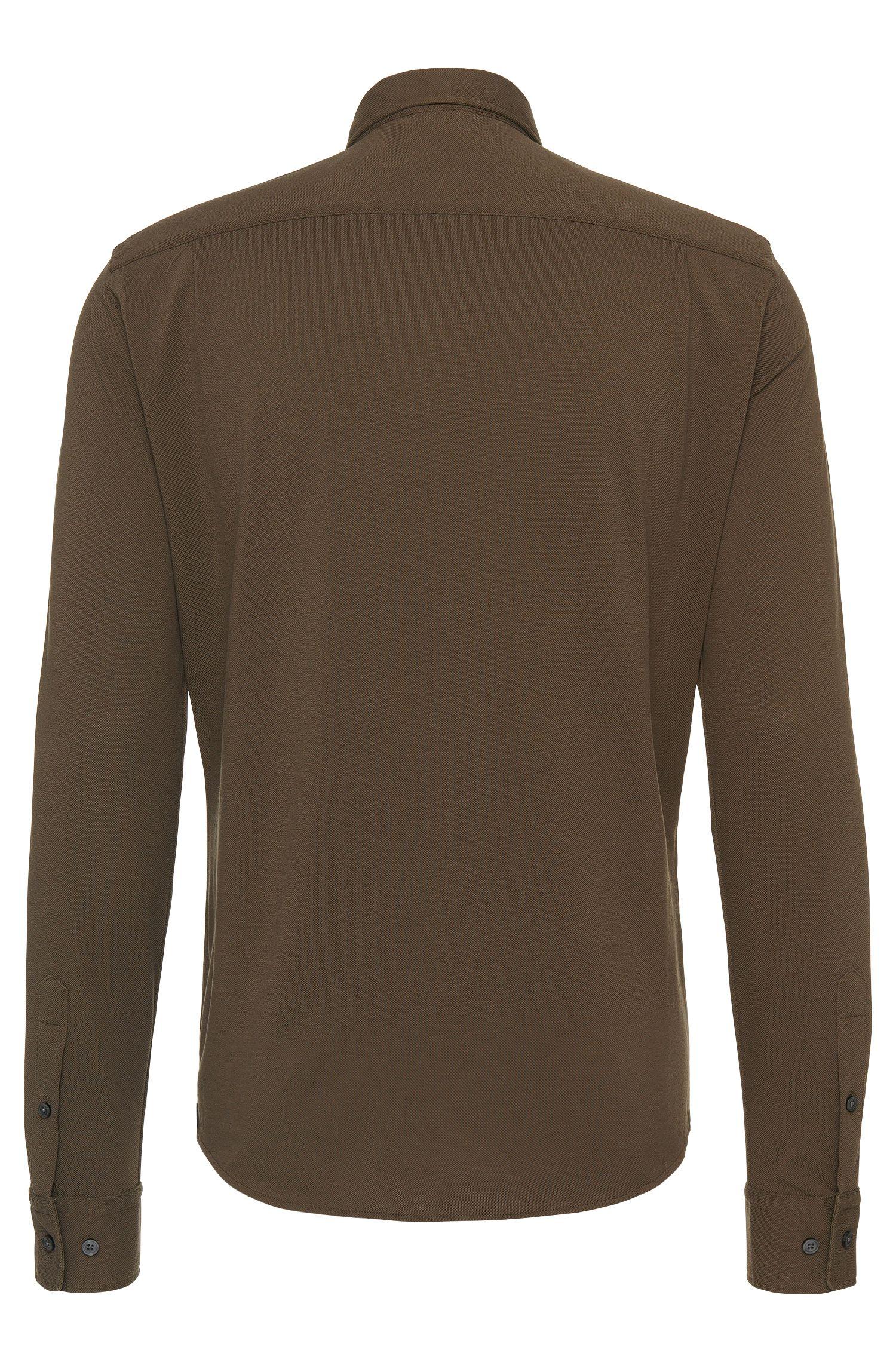 Slim-Fit Hemd aus Baumwolle im Poloshirt-Stil: 'Rune_30'