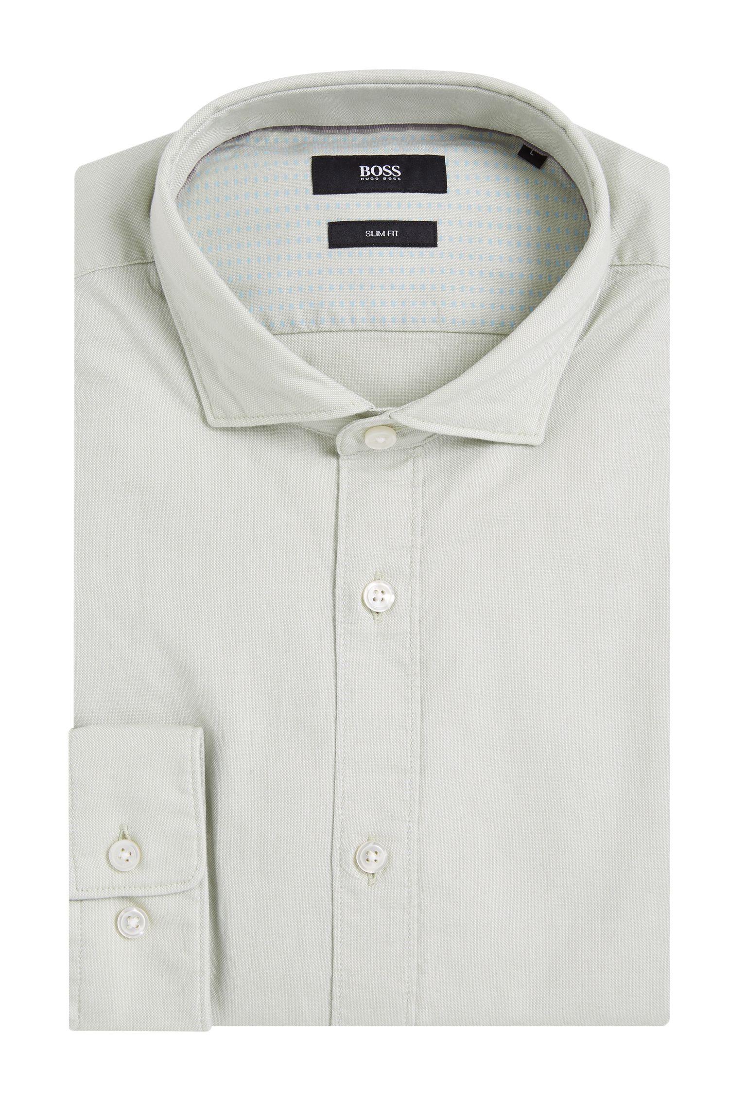 Chemise Slim Fit en coton, avec intérieur des poignets imprimé: «Ridley_4»
