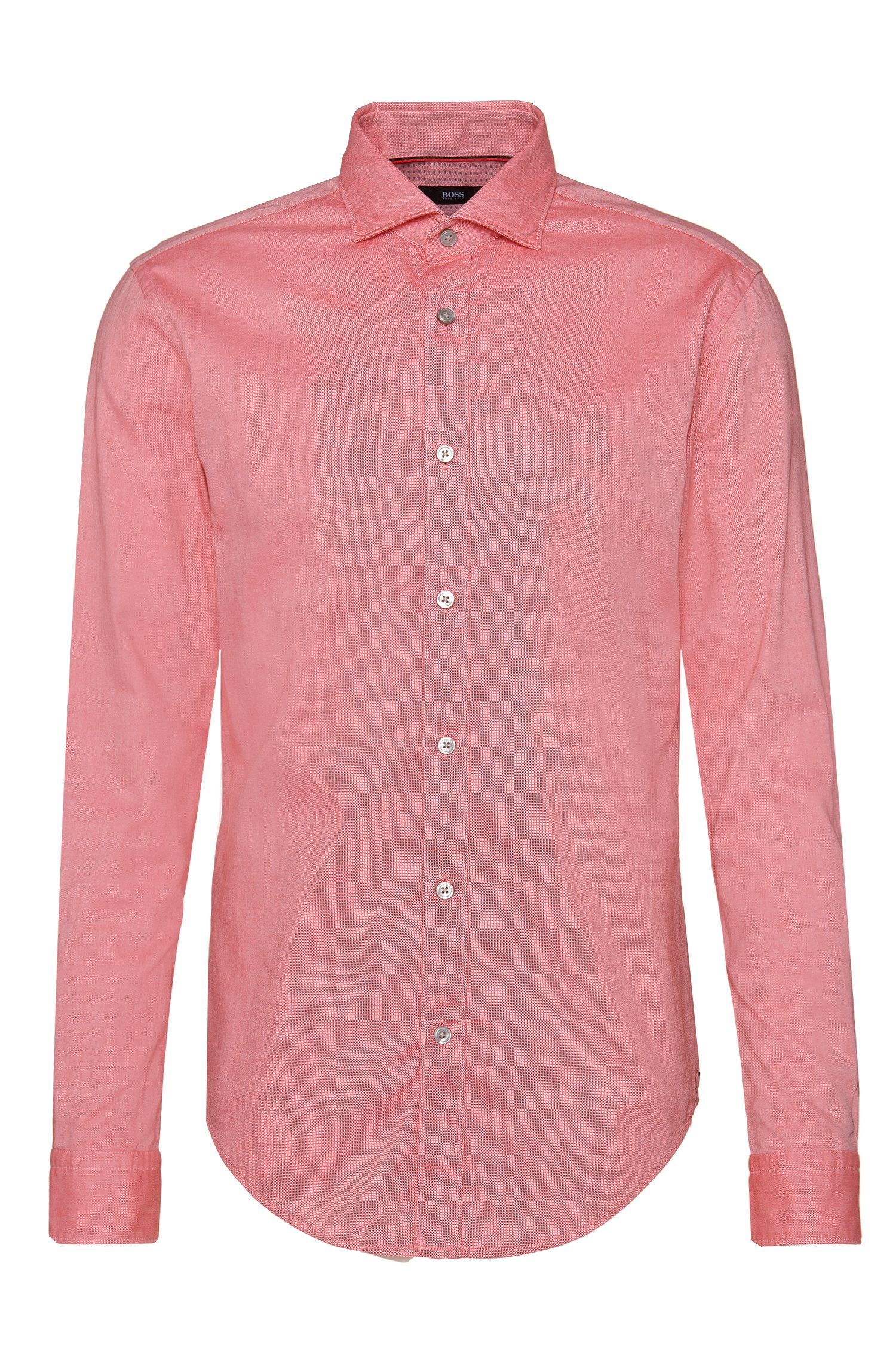 Slim-fit overhemd van katoen met binnenmanchetten met dessin: 'Ridley_4'