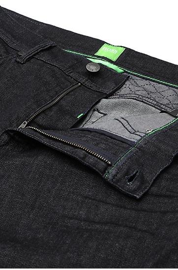 Regular-Fit Jeans aus strukturierter Stretch-Baumwolle: ´Deam30`, Dunkelblau