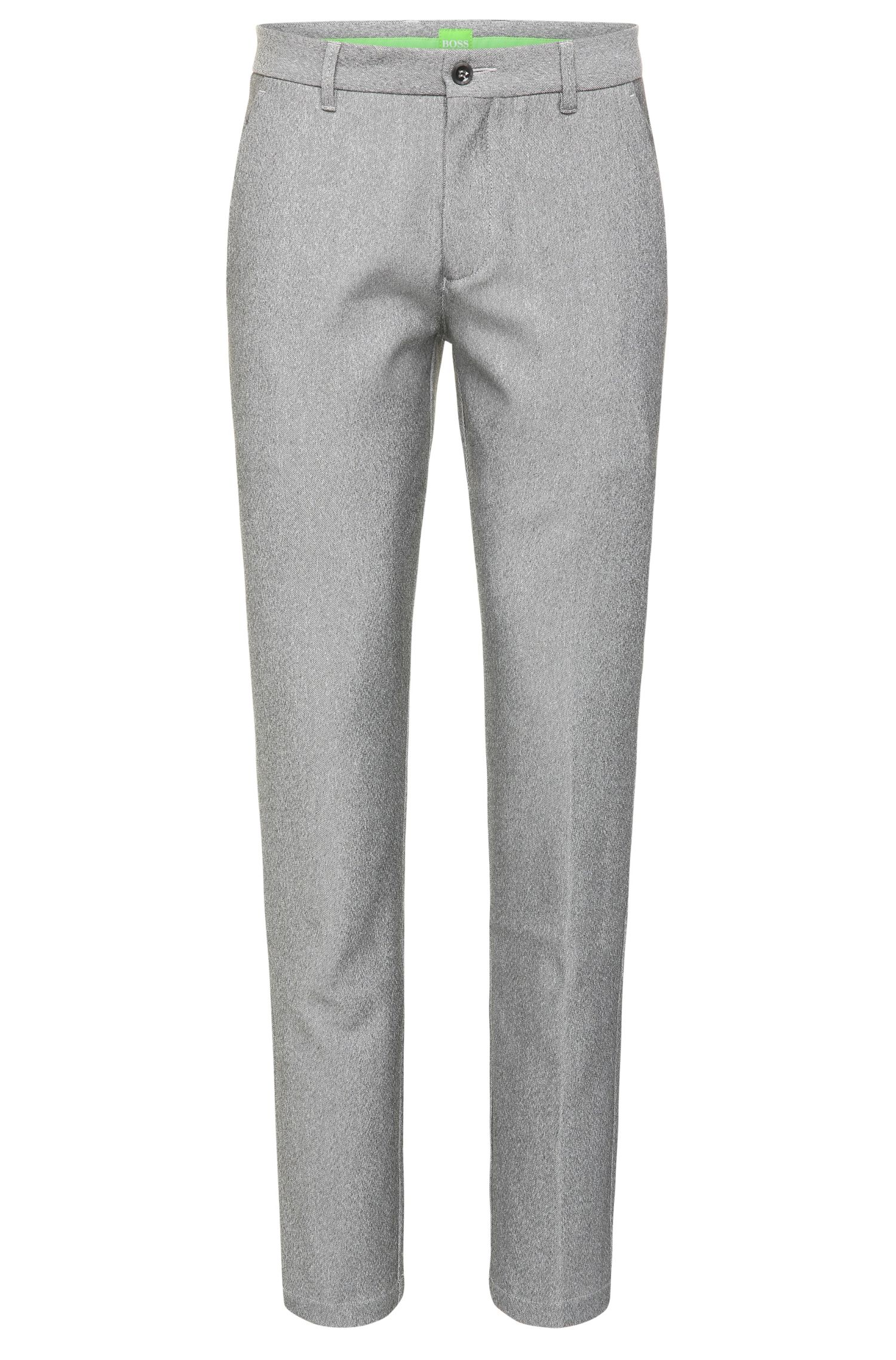 Textured slim-fit golf trousers in fabric blend: 'Hakan-Slim'