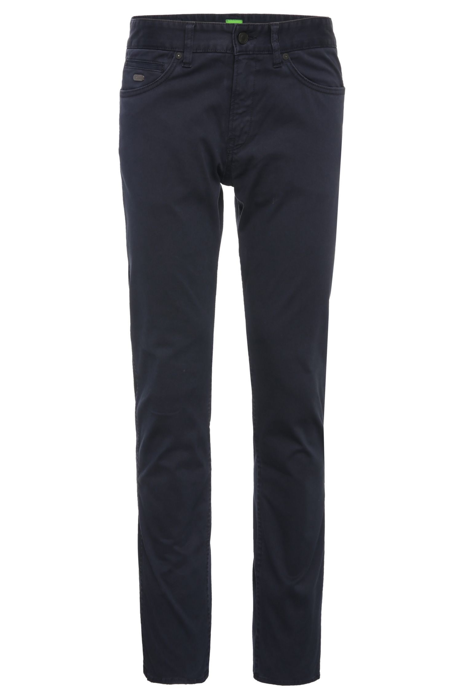 Slim-fit trousers in stretch cotton: 'C-Delaware2-3-20'