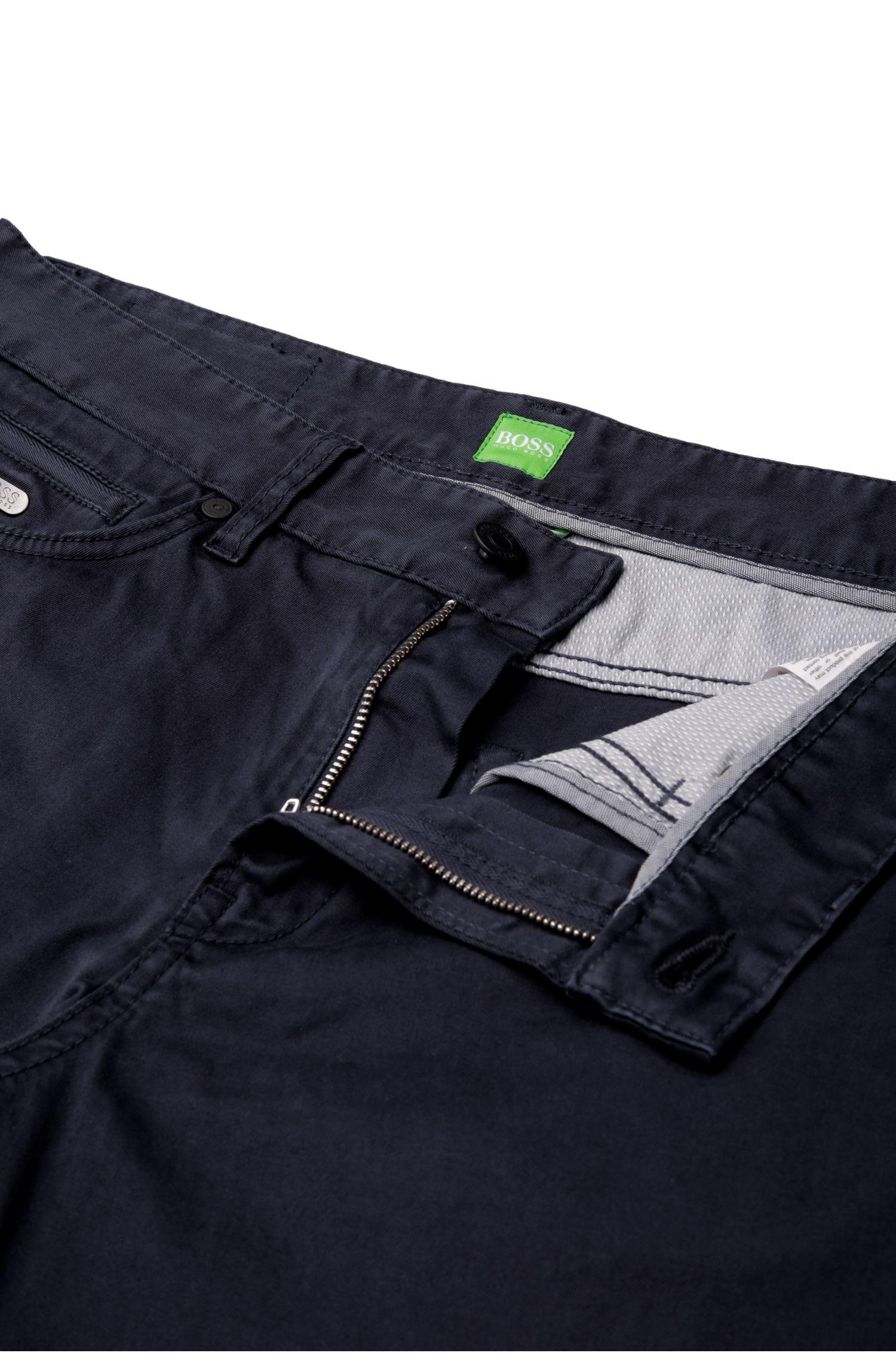 Regular-fit broek van elastische katoen: 'C-Delaware2-3-20'