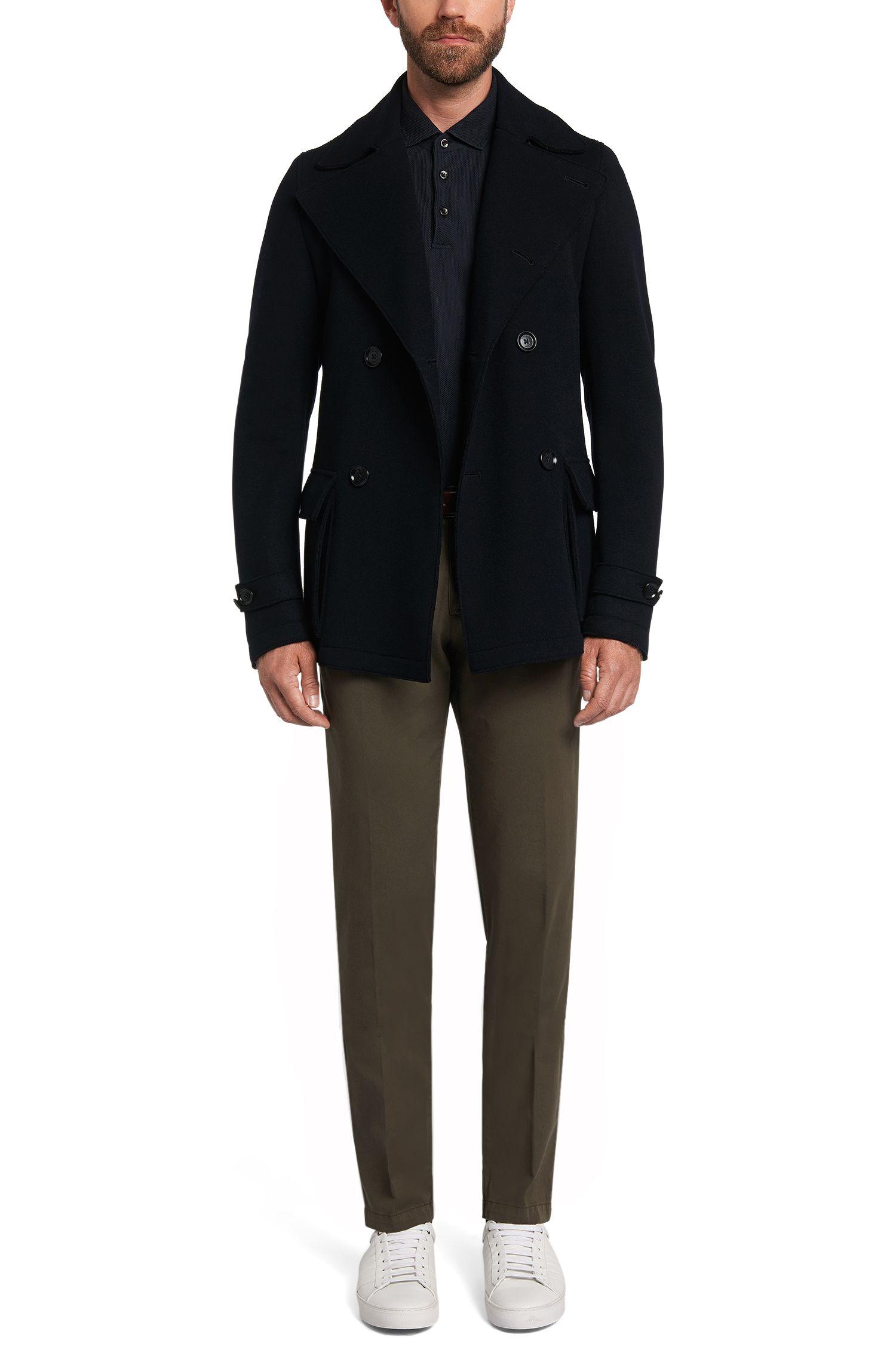 Regular-Fit Longsleeve-Poloshirt aus Baumwolle: 'Pickell 06'