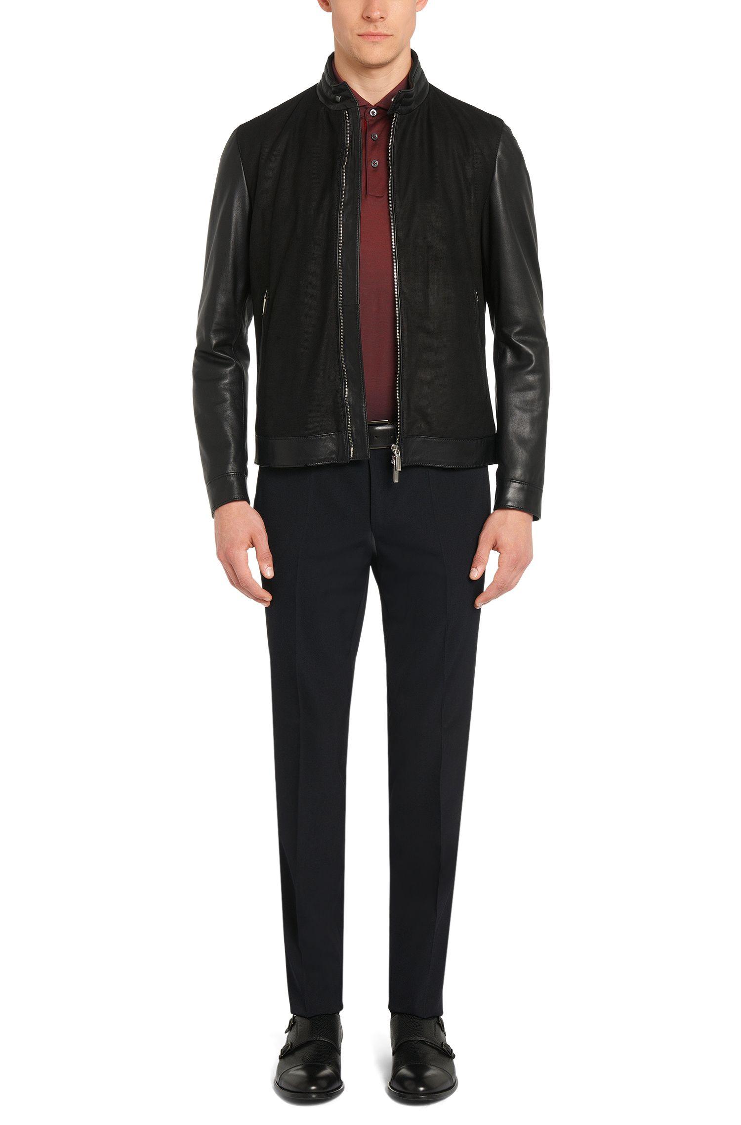 Meliertes Slim-Fit Tailored Poloshirt aus Baumwolle: 'T-Pryde 23'