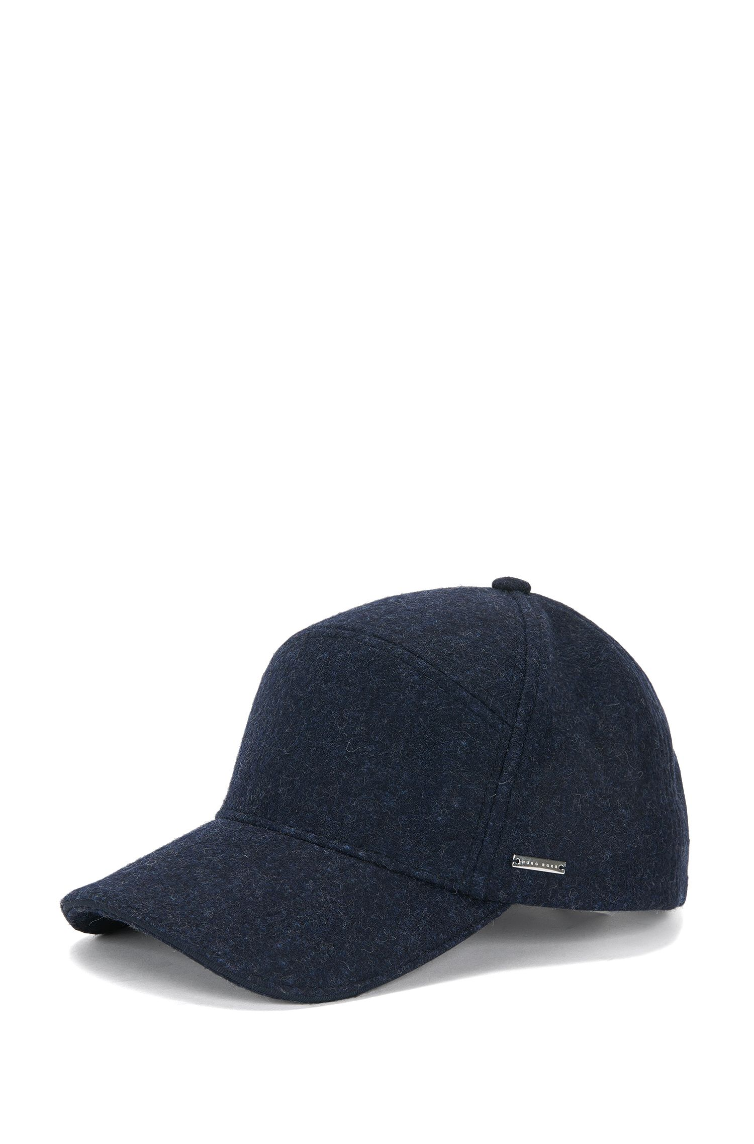 Tailored cap in wool blend: 'T-Sereno'