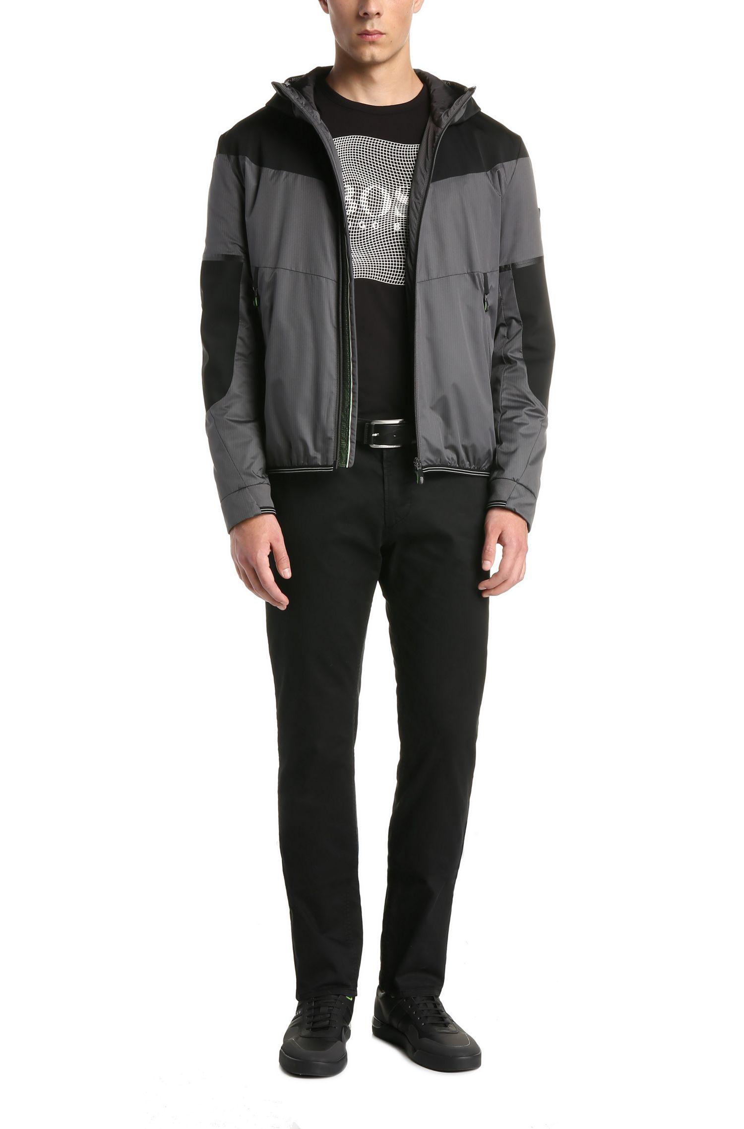 Pantalon Slim Fit en coton extensible: «C-Rice1-D»