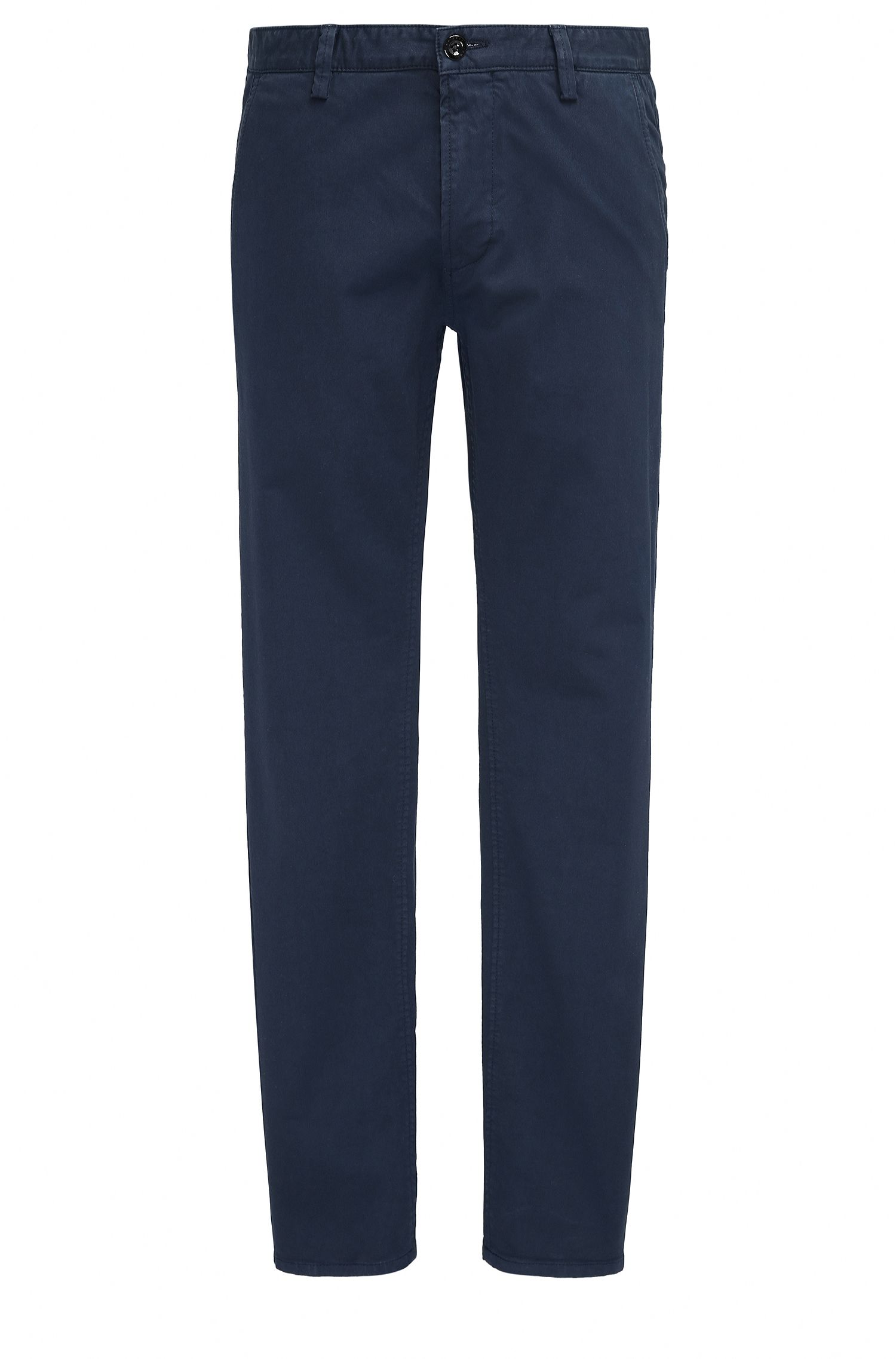 Pantalon Slim Fit en gabardine stretch