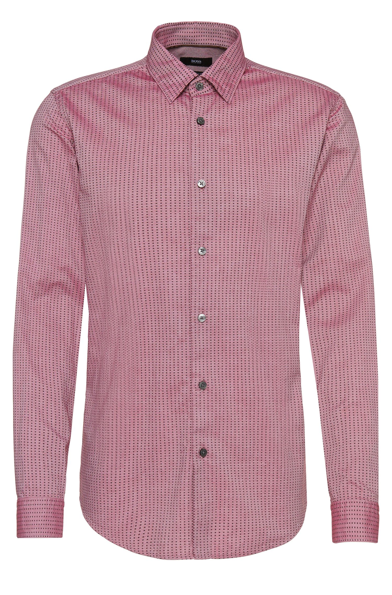Regular-fit overhemd van katoen met dessin: 'Lukas_ 39F'