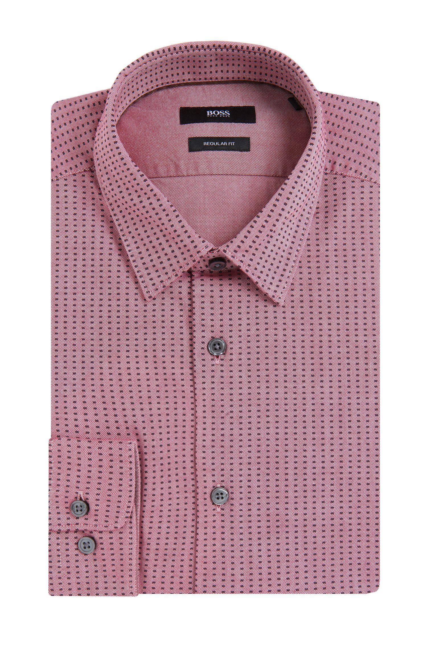 Gemustertes Regular-Fit Hemd aus Baumwolle: 'Lukas_ 39F'