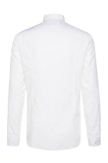 Slim-Fit Hemd aus Baumwolle: ´C-Buster`, Weiß
