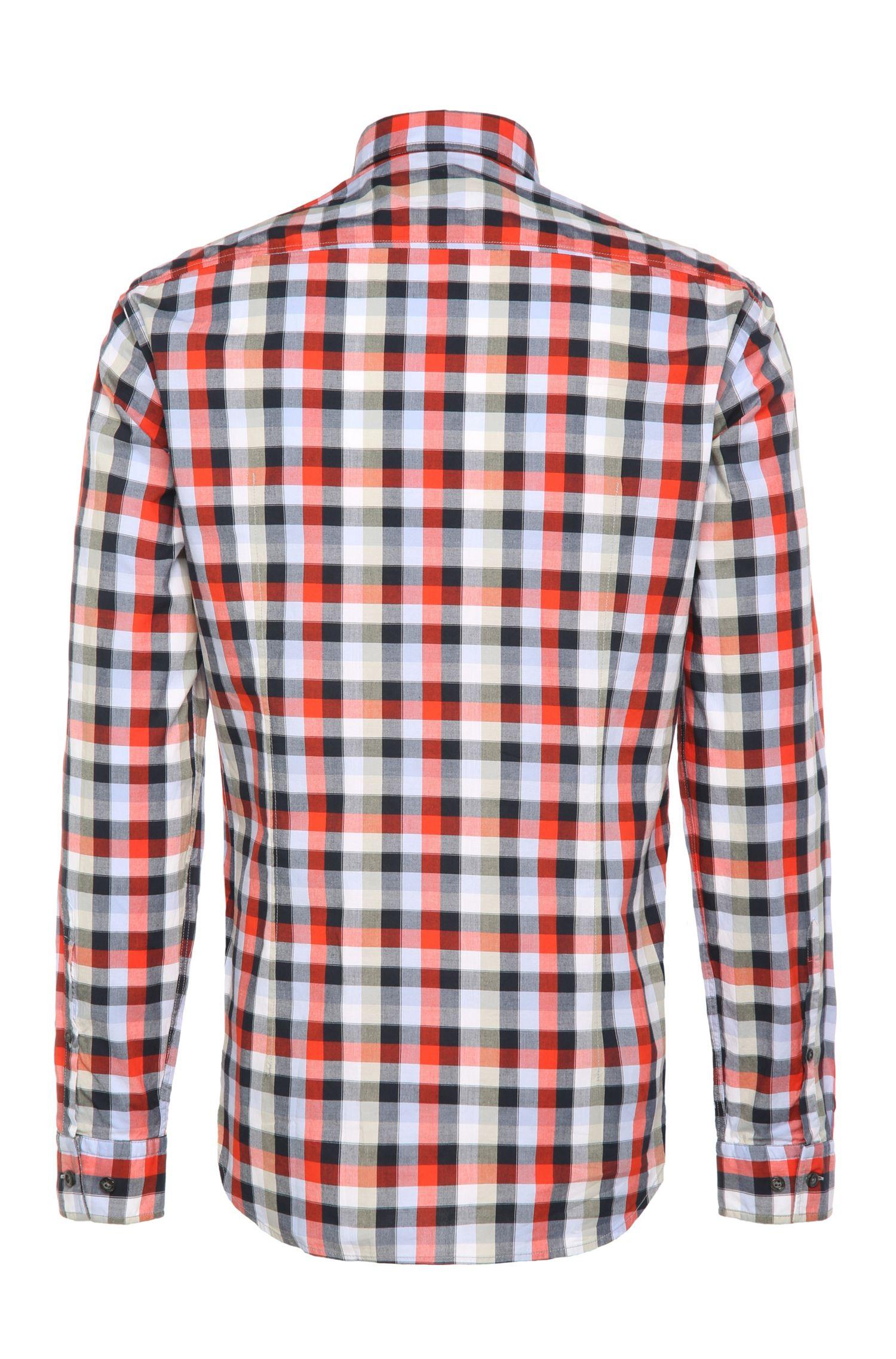 Regular-Fit Karo-Hemd aus leichter Baumwolle: ´C-Bustai`
