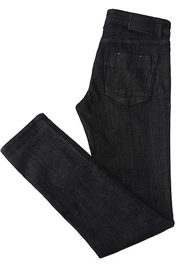 Extra Slim-Fit Jeans aus veredelter Stretch-Baumwolle: ´Dayan`, Dunkelblau