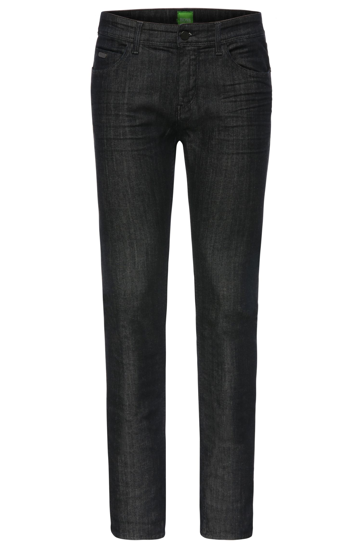 Extra slim-fit jeans in finished stretch cotton: 'Dayan'