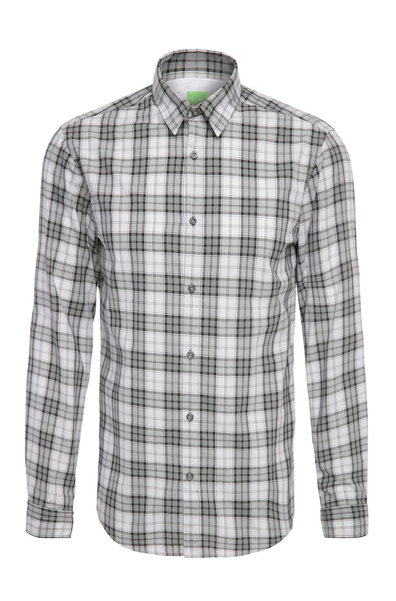 Regular-fit check shirt in cotton: 'C-Briar'