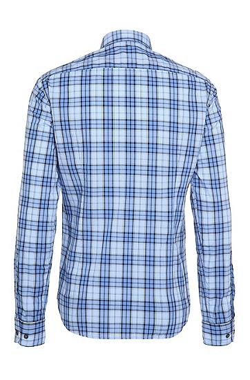 Regular-Fit Karo-Hemd aus Baumwolle: ´C-Briar`, Hellblau