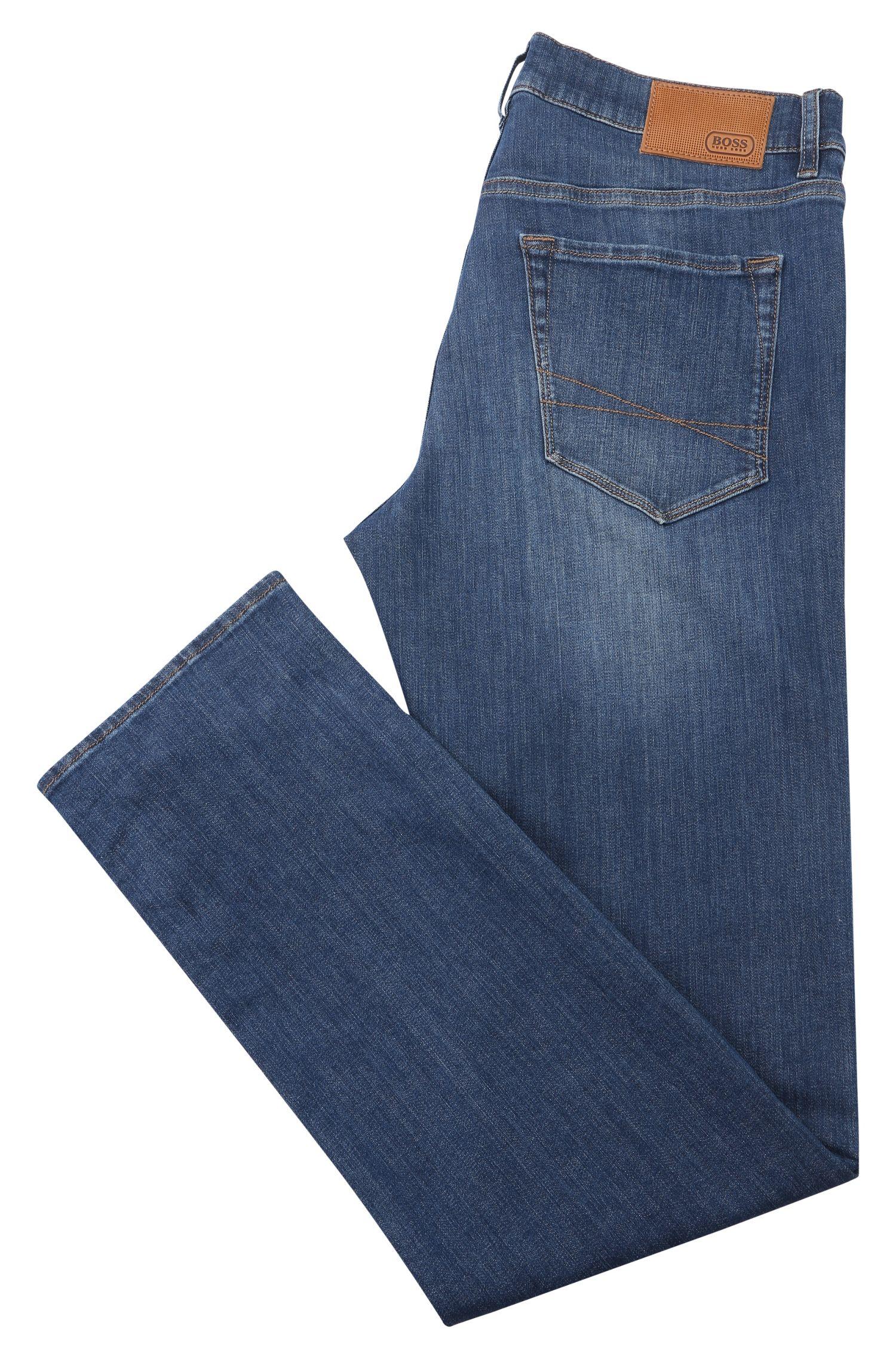 Regular-Fit Jeans aus elastischer Baumwolle mit Vintage-Waschung: ´C-MAINE1`