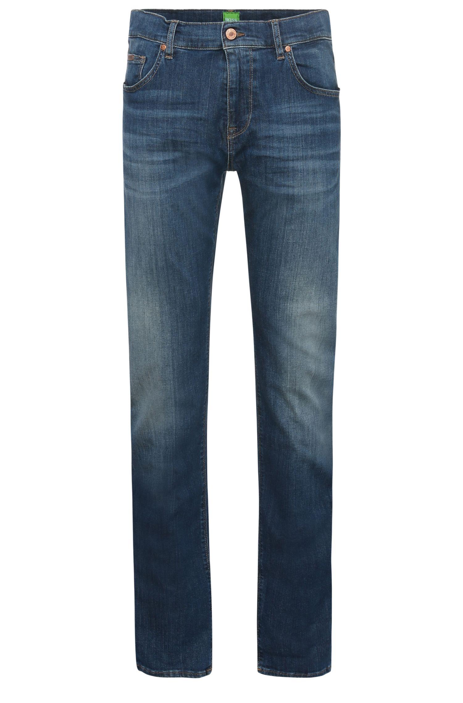 Jeans Regular Fit en coton extensible à effets délavés vintage: «C-MAINE1»