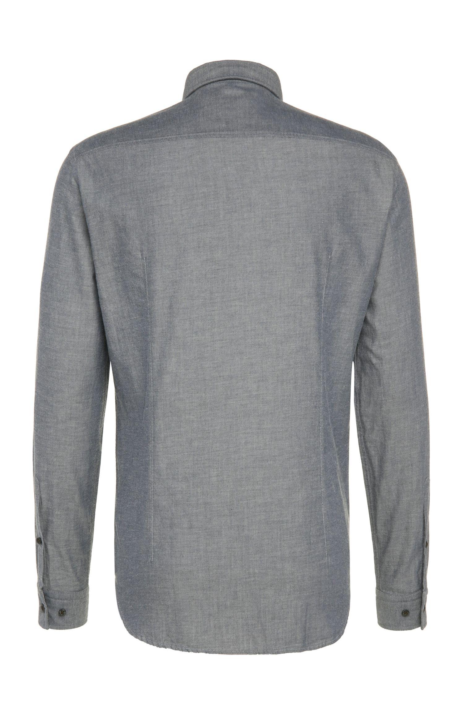 Regular-Fit Hemd aus texturierter Baumwolle: ´C-Baldasar`