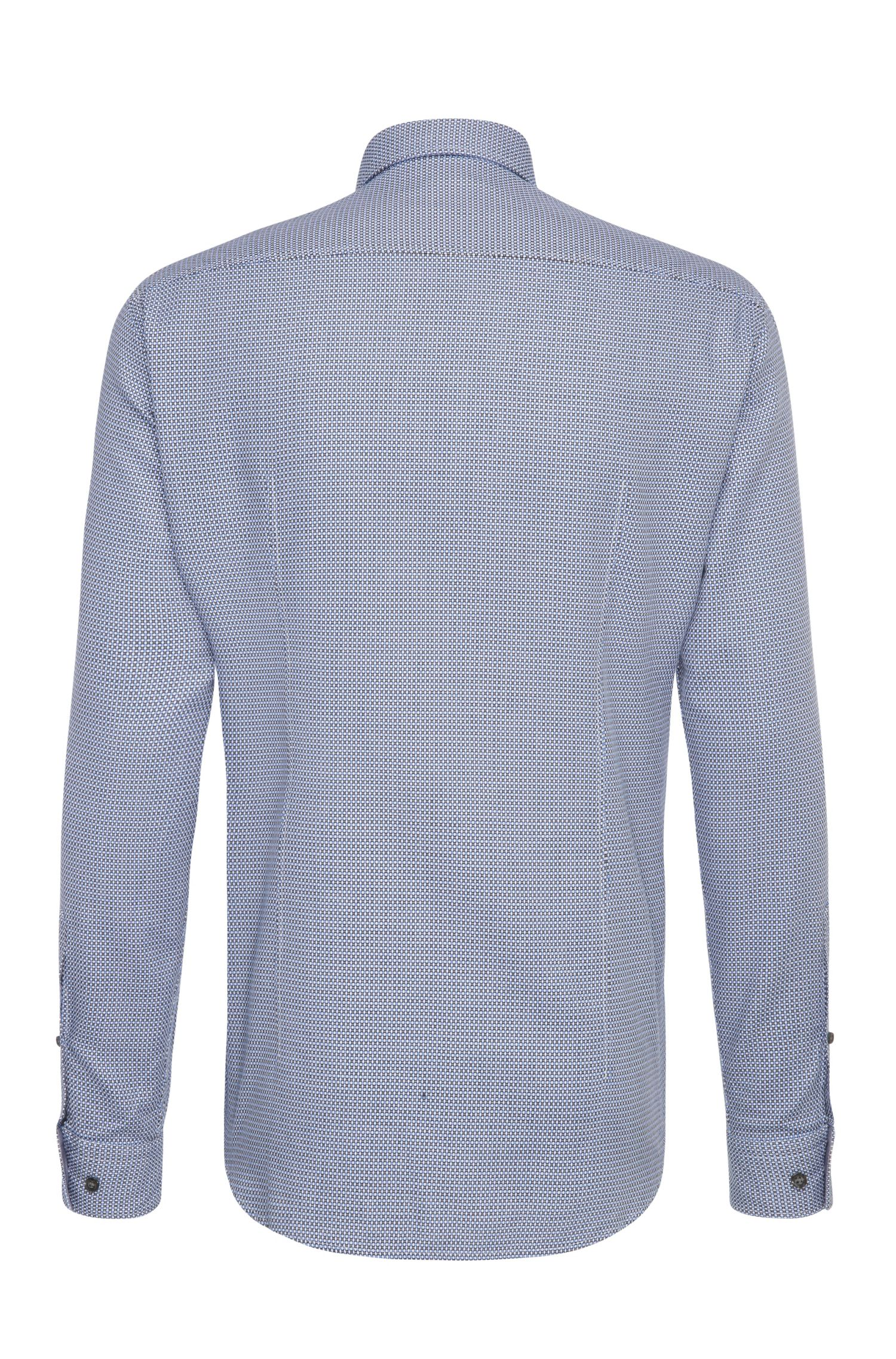 Chemise Regular Fit en coton à motif allover: «C-Baldasar»