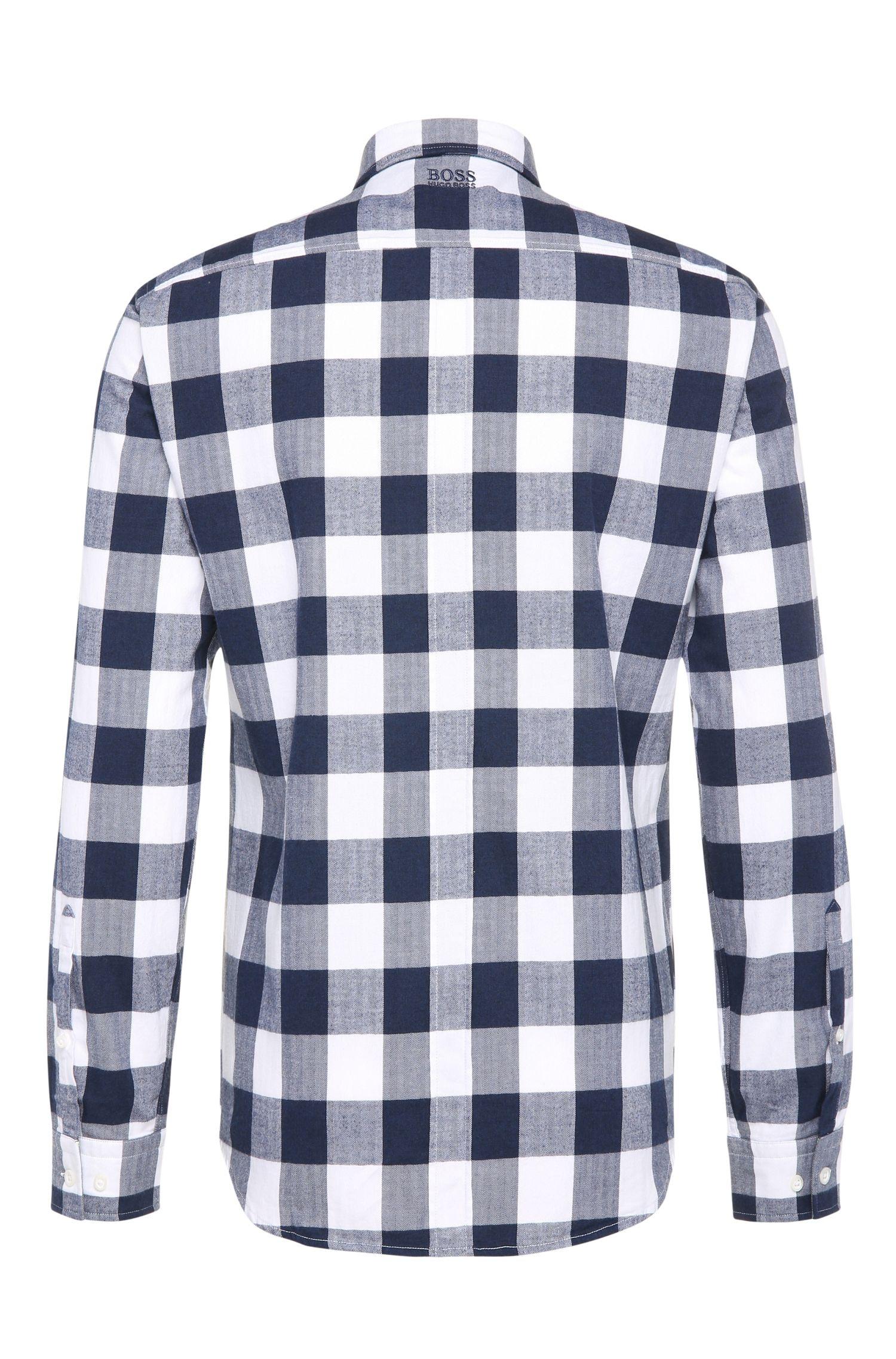 Chemise Regular Fit à carreaux, en coton: «Bagata»