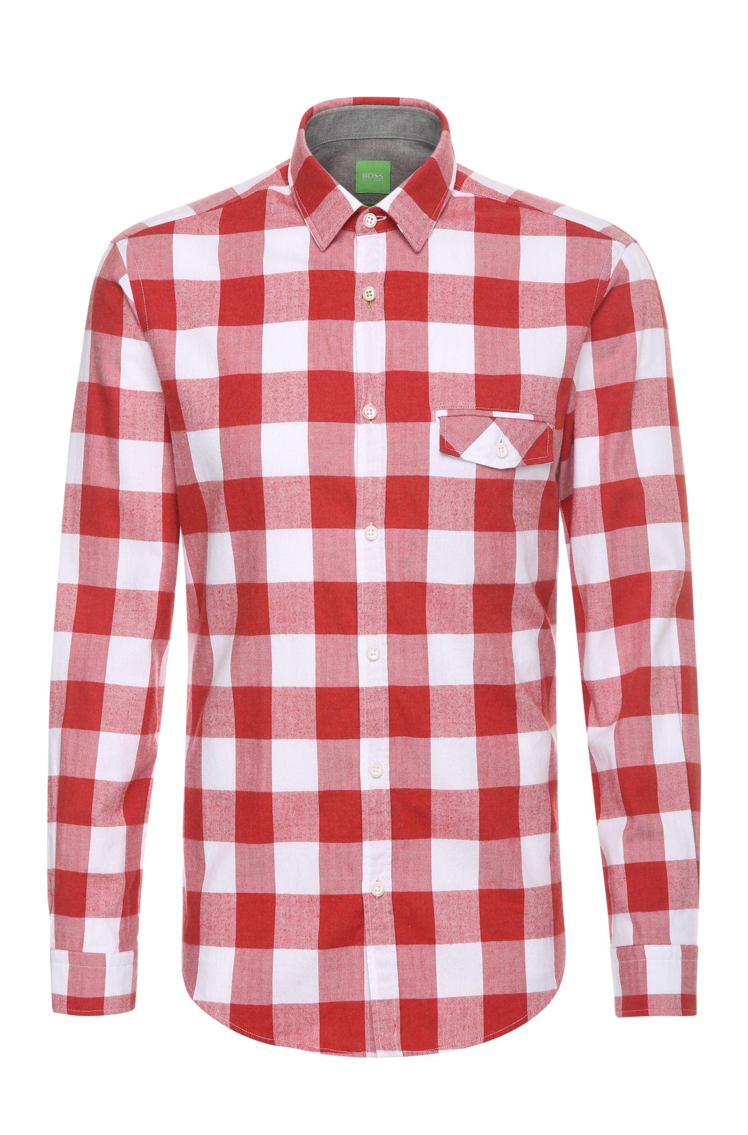 Kariertes Regular-Fit Hemd aus Baumwolle: ´Bagata`