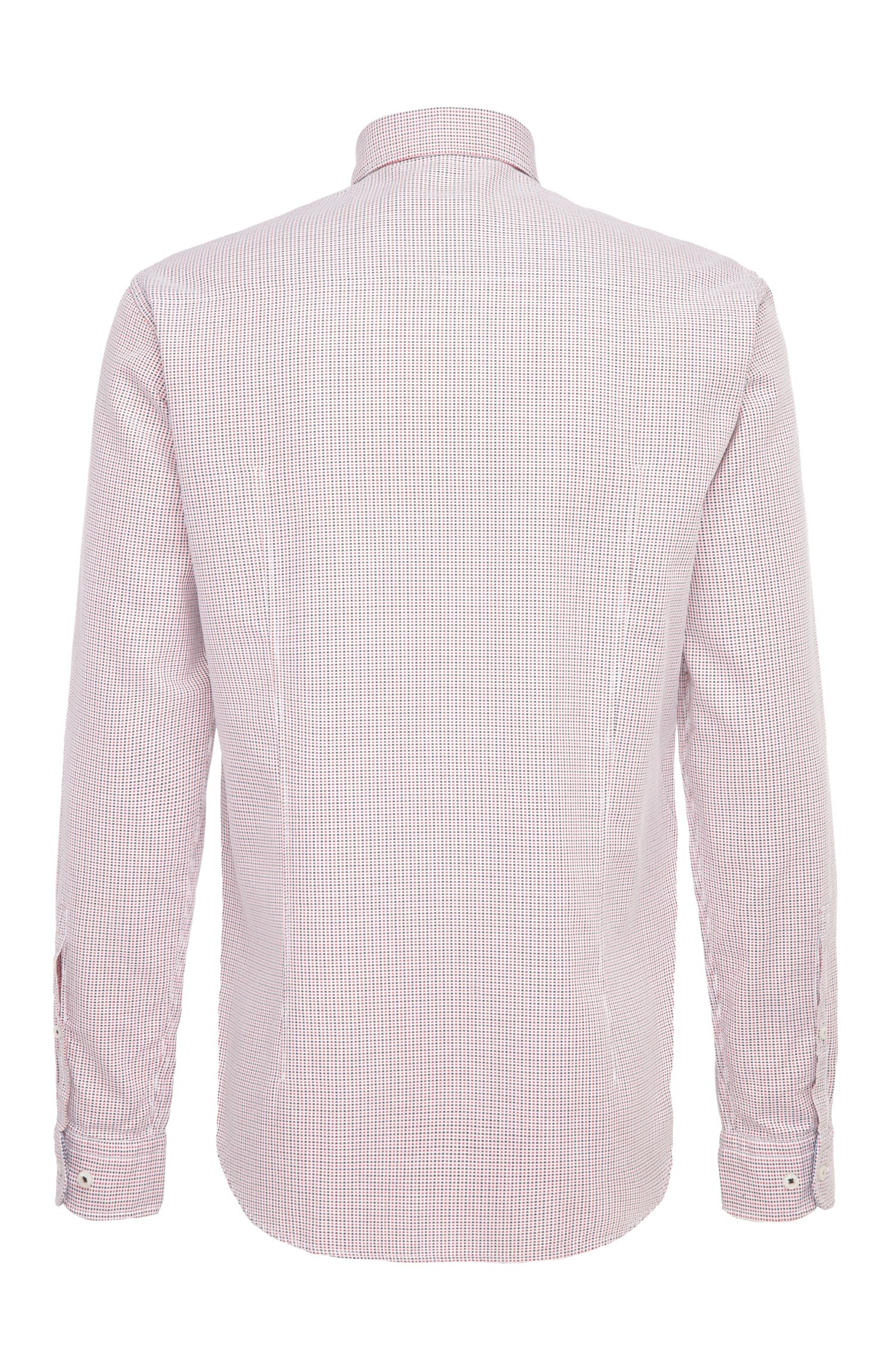 Regular-Fit Hemd aus gemusterter Baumwolle: ´C-Bacchis`