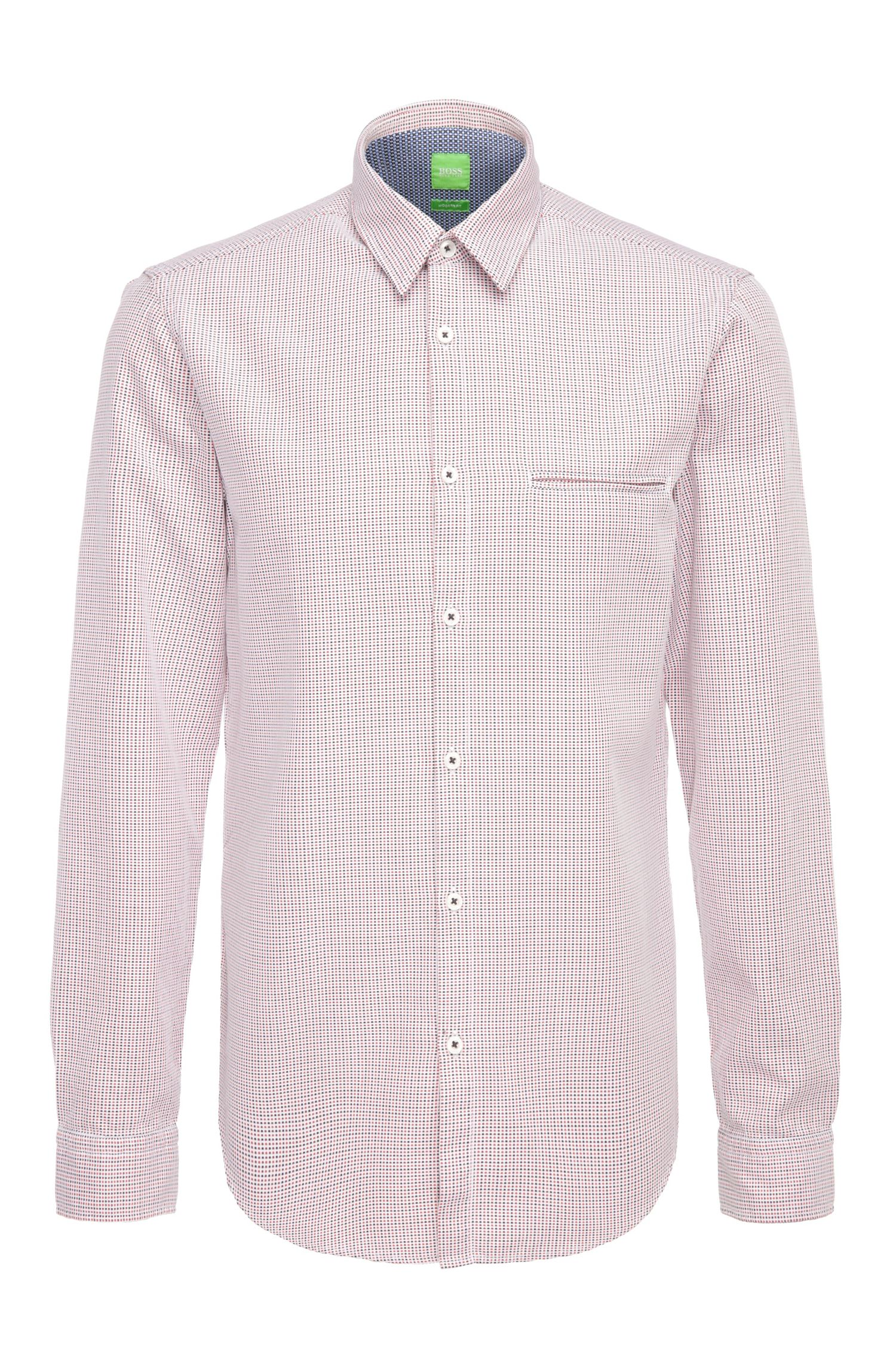 Regular-fit shirt in patterned cotton: 'C-Bacchis'