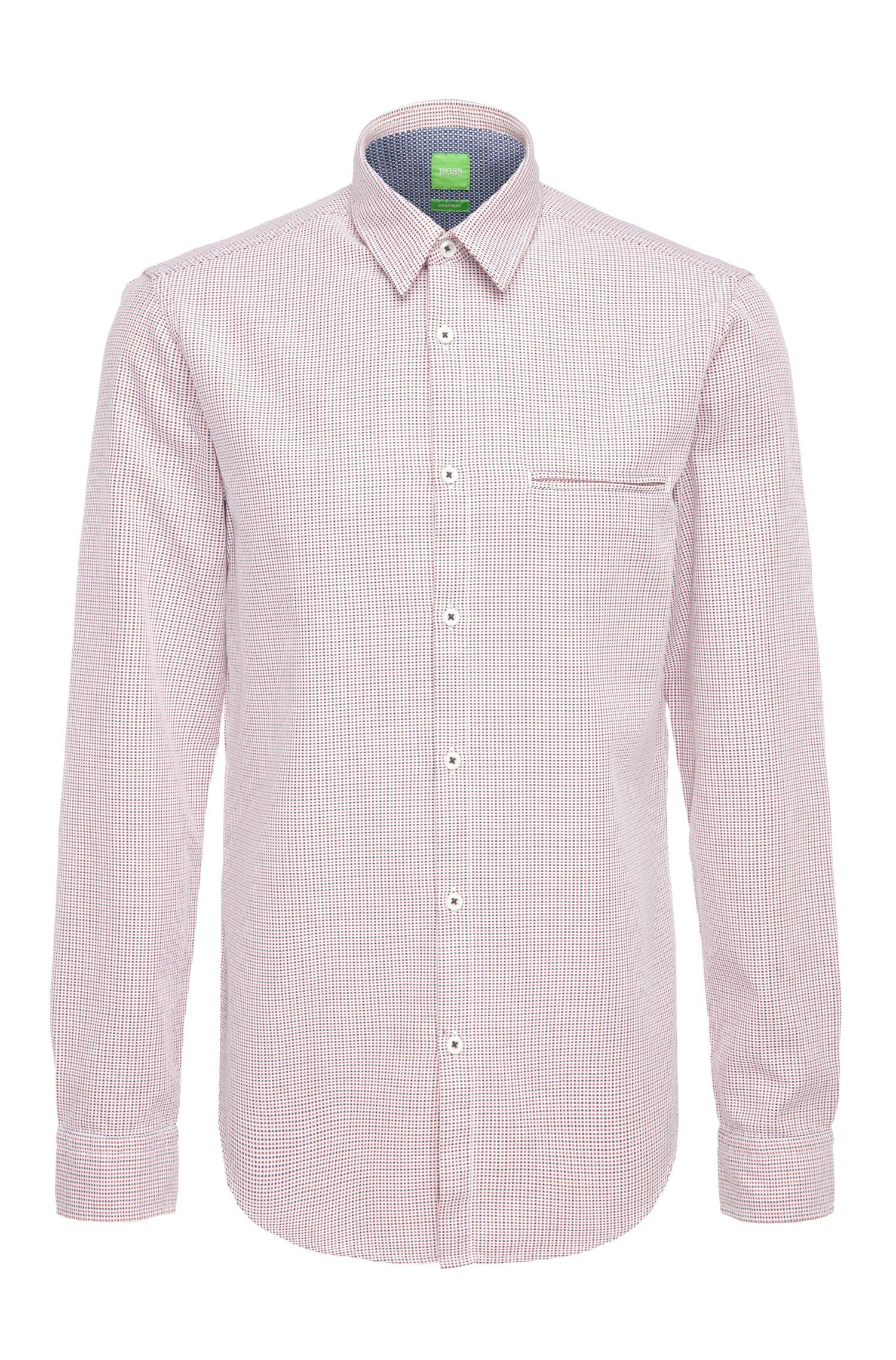 Chemise Regular Fit en coton à motif: «C-Bacchis»