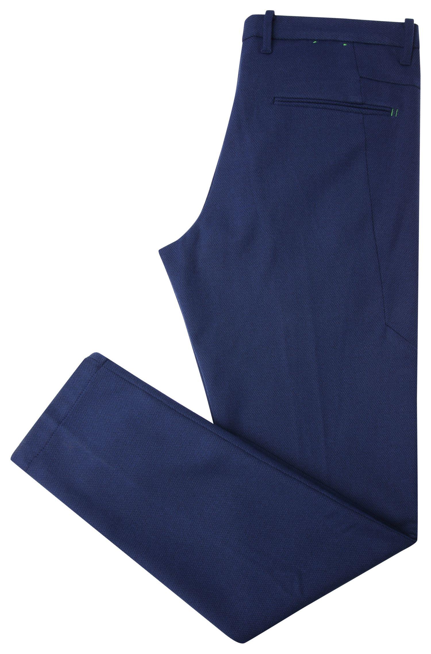 Texturierte Slim-Fit Hose aus elastischem Material-Mix mit Viskose: ´Kait-1-W`
