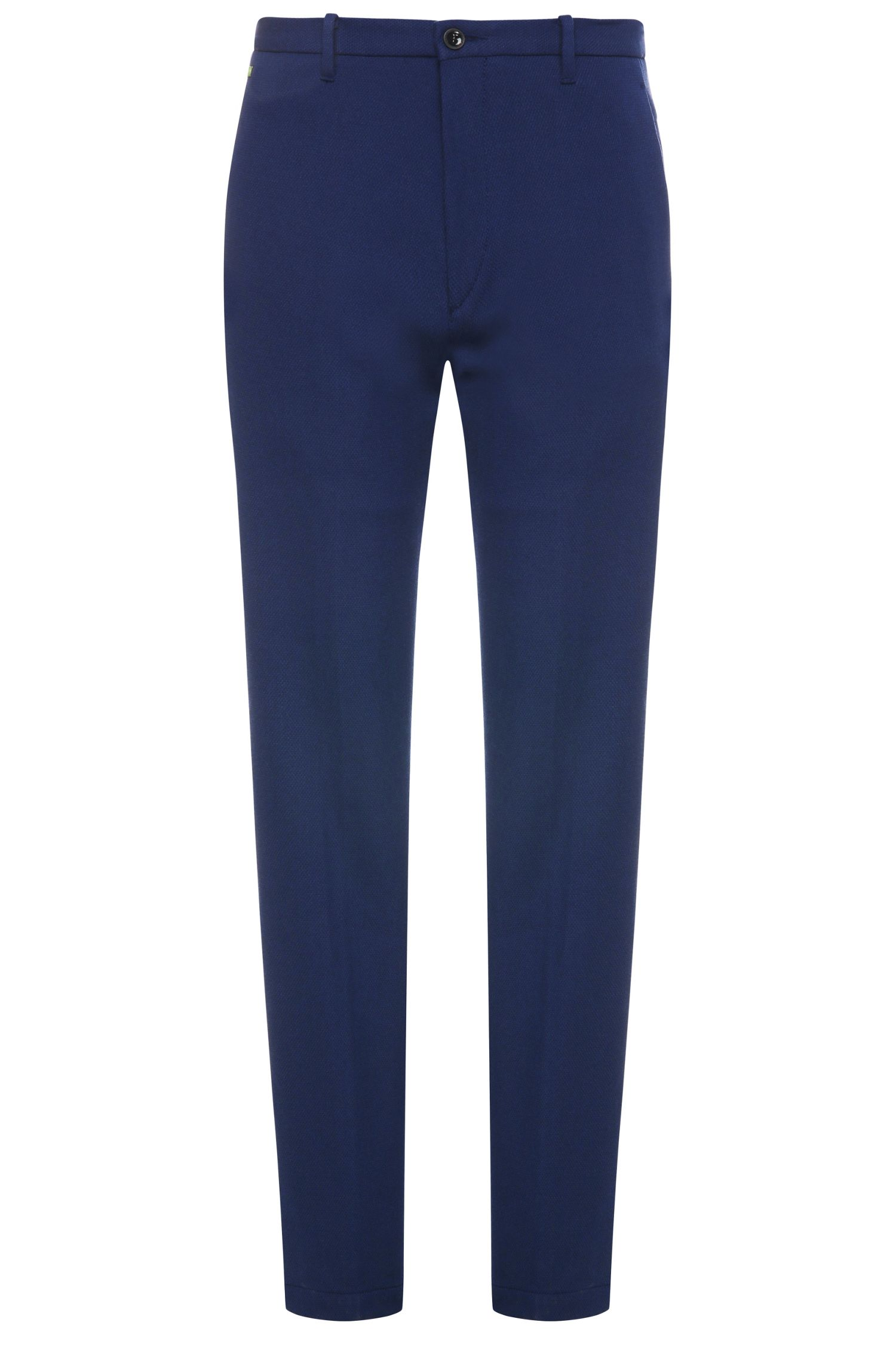 Textured slim-fit trousers in a stretchy fabric blend with viscose: 'Kait-1-W'