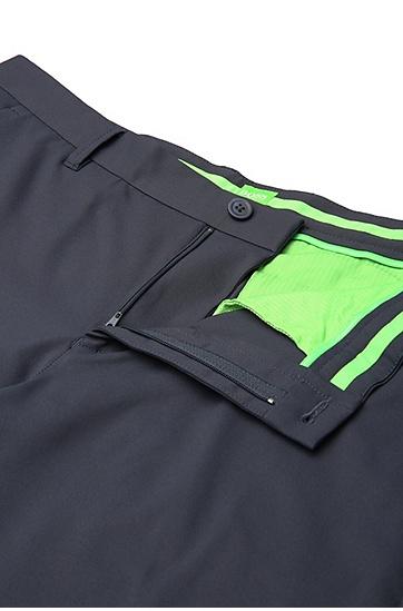 Slim-Fit Hose aus einem soften Material-Mix: ´Hakan-Slim`, Dunkelblau