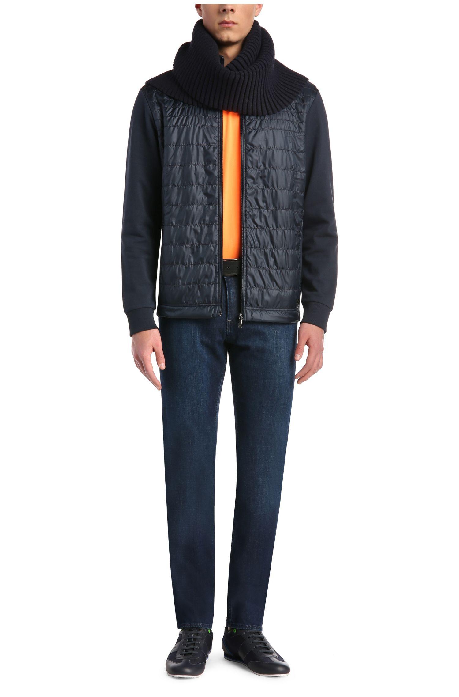 Slim-fit jeans van stretchkatoen met structuur: 'C-DELAWARE1'