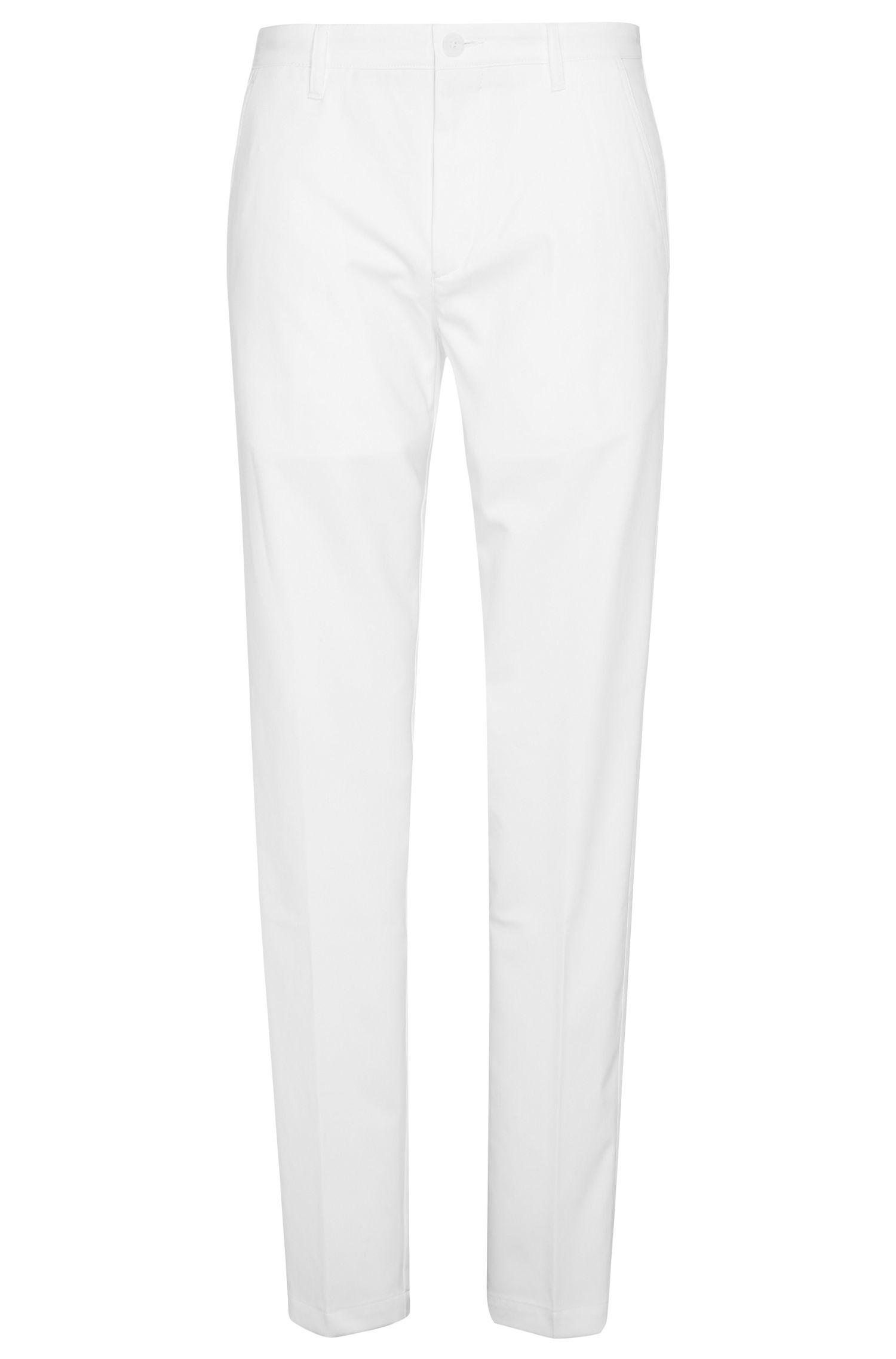 Slim-fit trousers in soft fabric: 'Hakan 9'