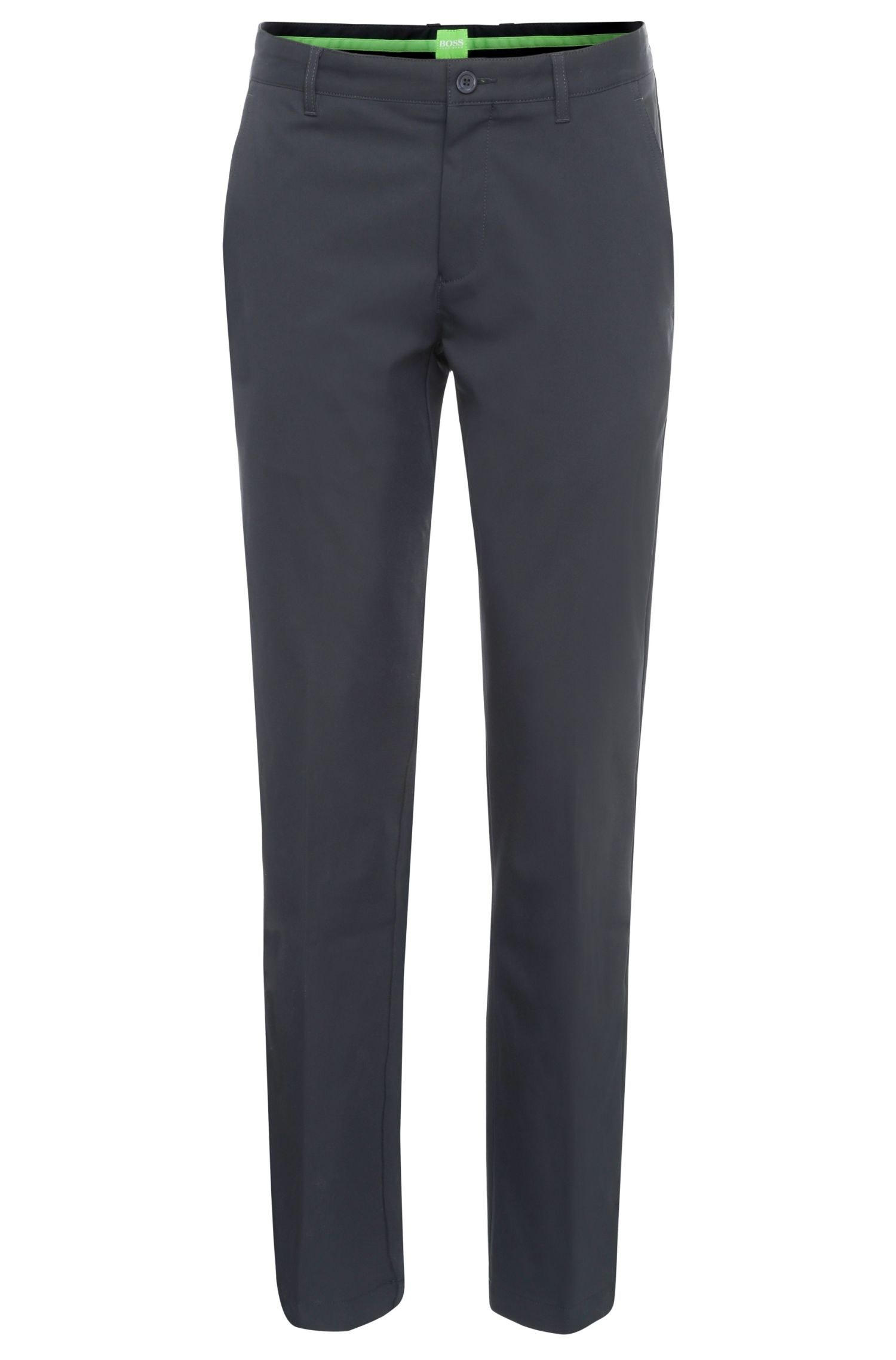 Slim-fit trousers in soft fabric: 'Hakan 9'
