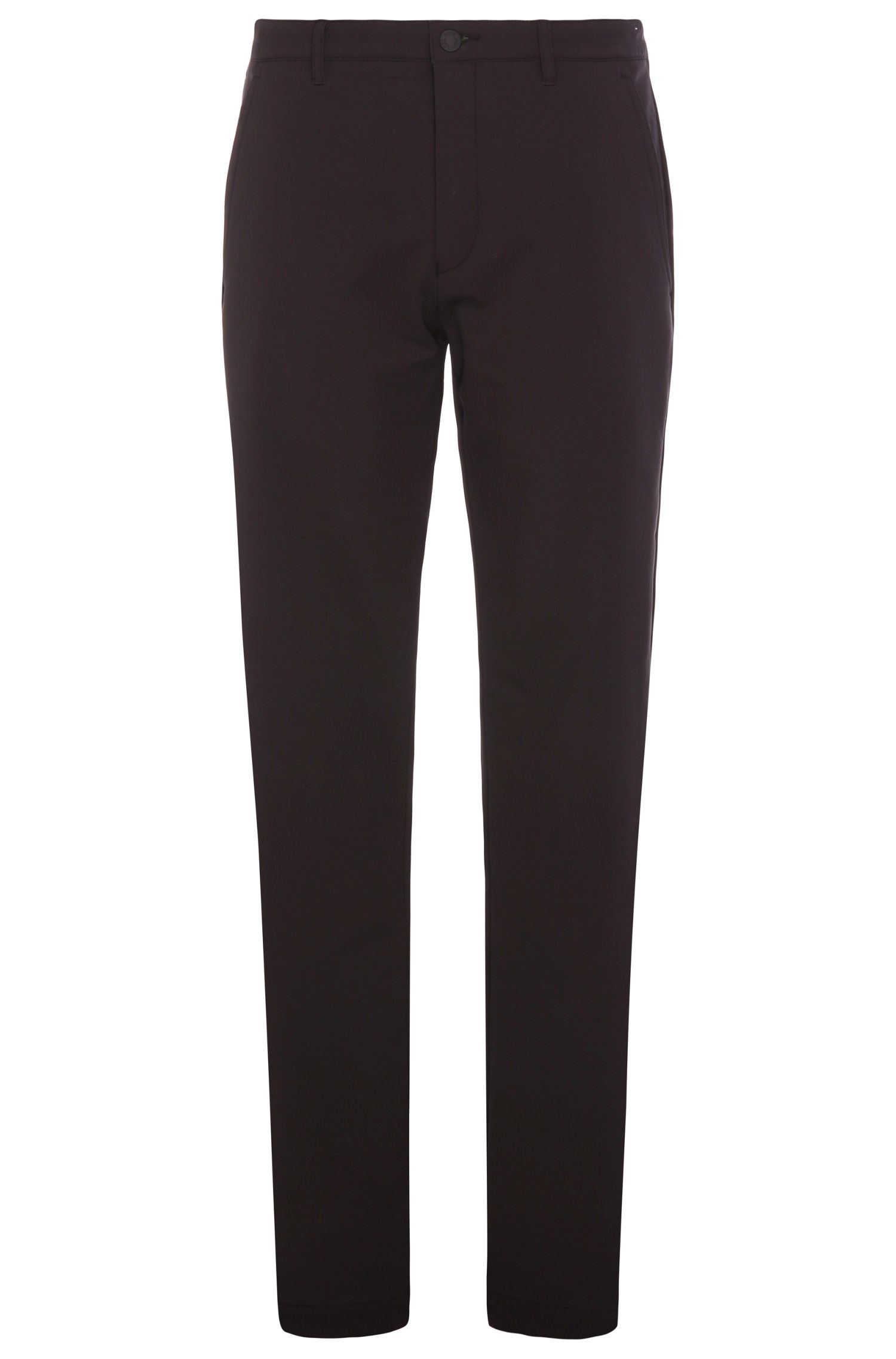 Slim-fit trousers in stretchy material blend: 'Hakan 9'