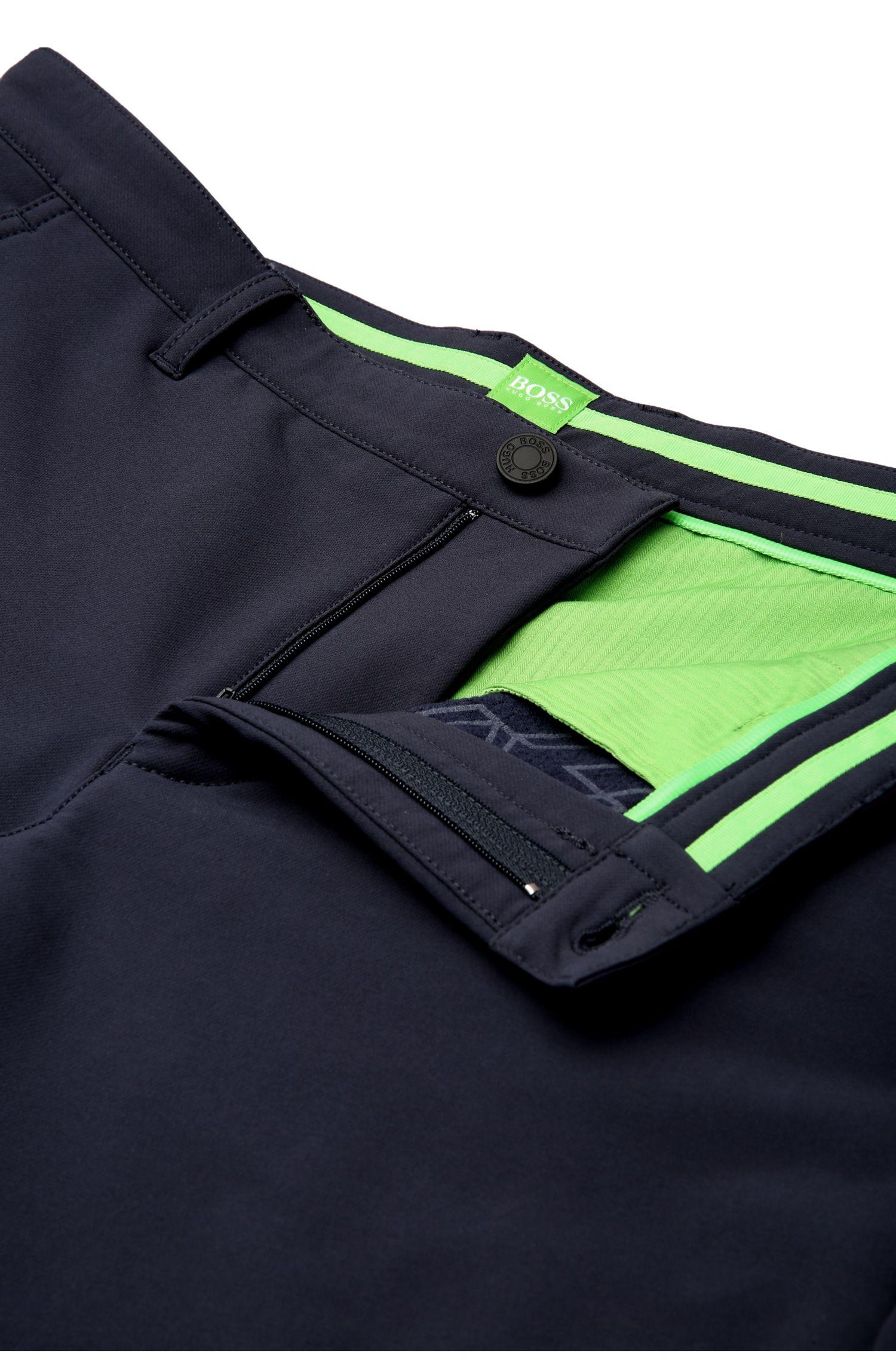 Slim-Fit Hose aus elastischen Material-Mix: ´Hakan 9`