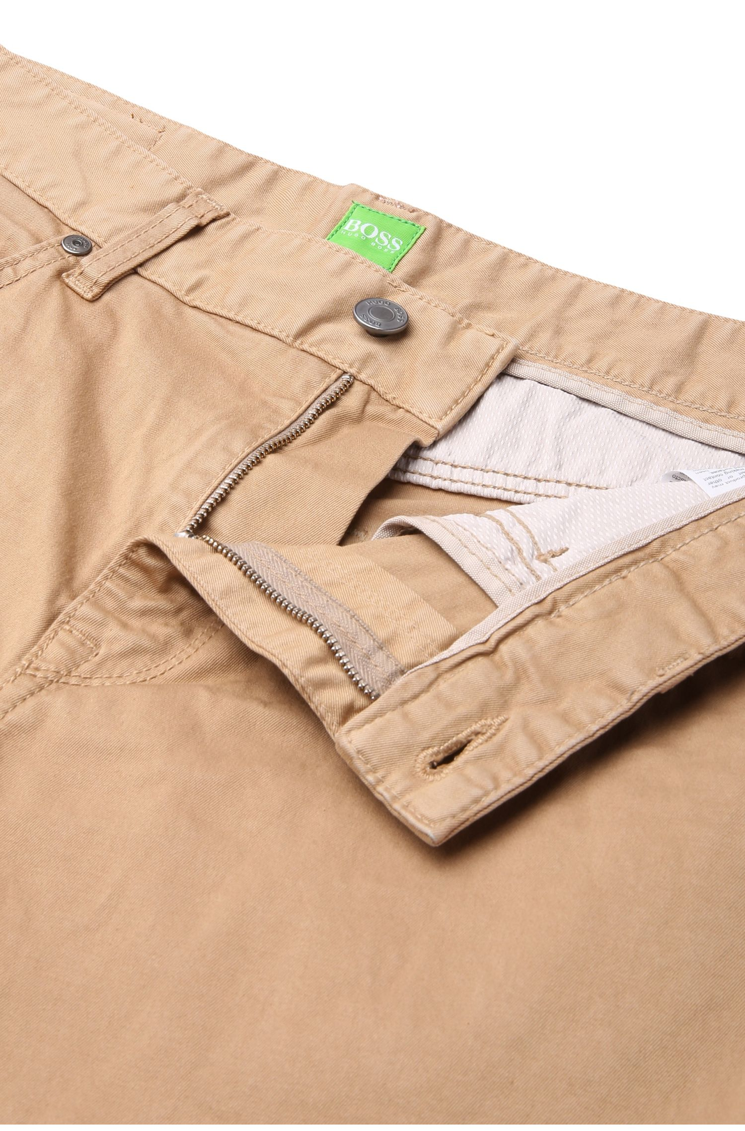 Pantalon Regular Fit en coton stretch: «C-Maine1-1-20»