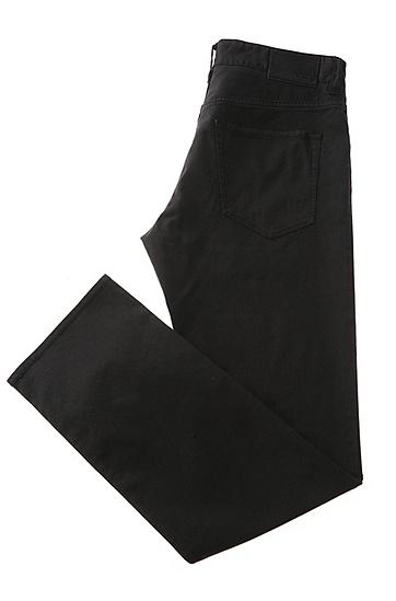 Regular-Fit Jeans aus Stretch-Baumwolle: ´C-Maine1-20`, Schwarz