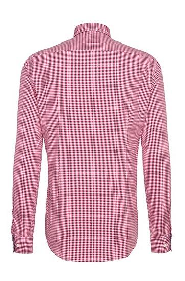 Regular-Fit Baumwollhemd mit Karo-Muster: ´C-Baldasar`, Hellrot