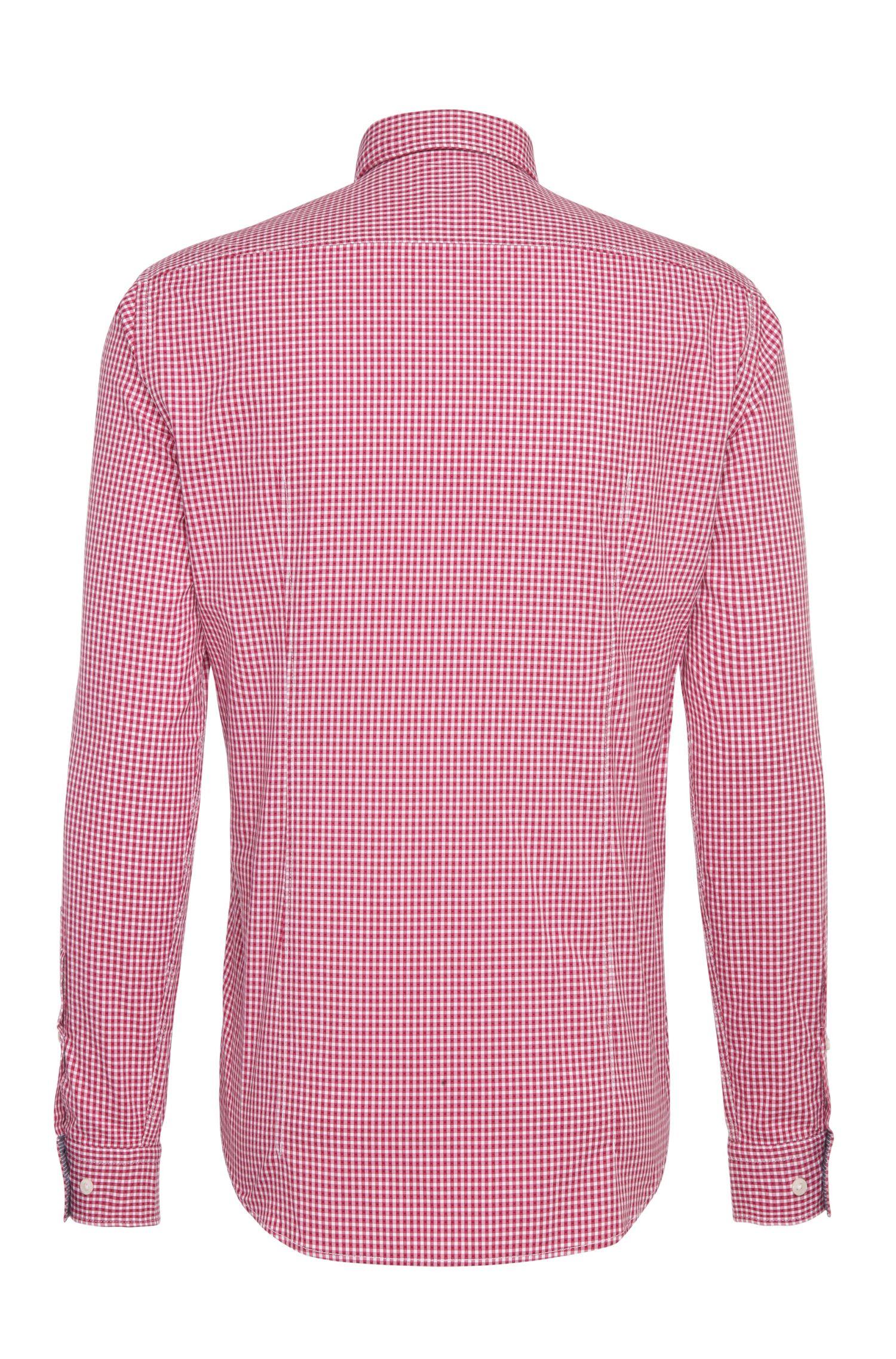Regular-fit overhemd van katoen met ruitdessin: 'C-Baldasar'