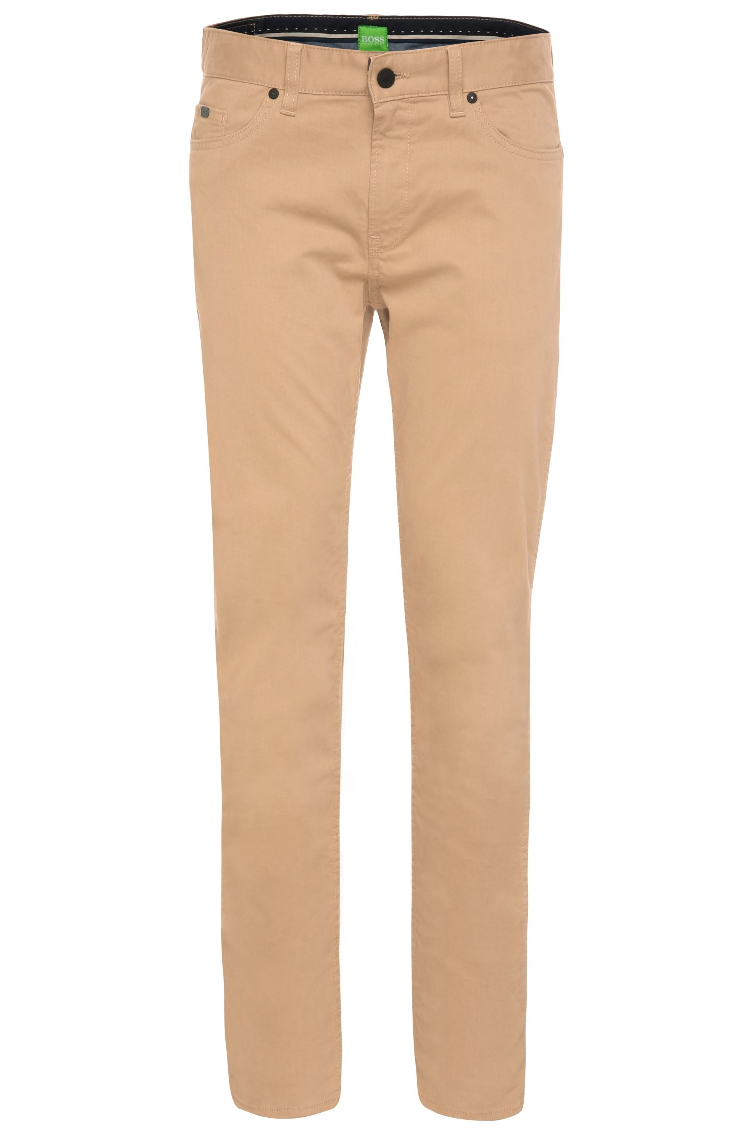 Slim-fit trousers in stretch cotton: 'C-Delaware2-20'