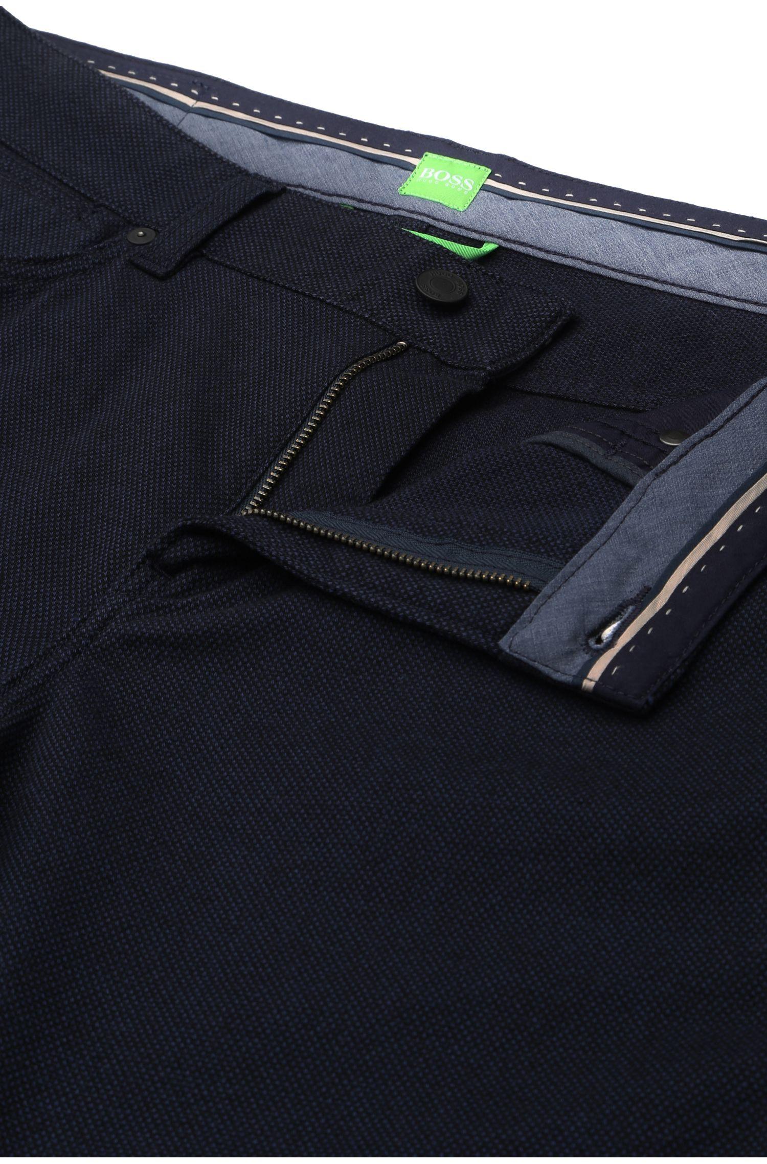 Pantalon Slim Fit uni à la structure originale: «C-Delaware2-4-20»