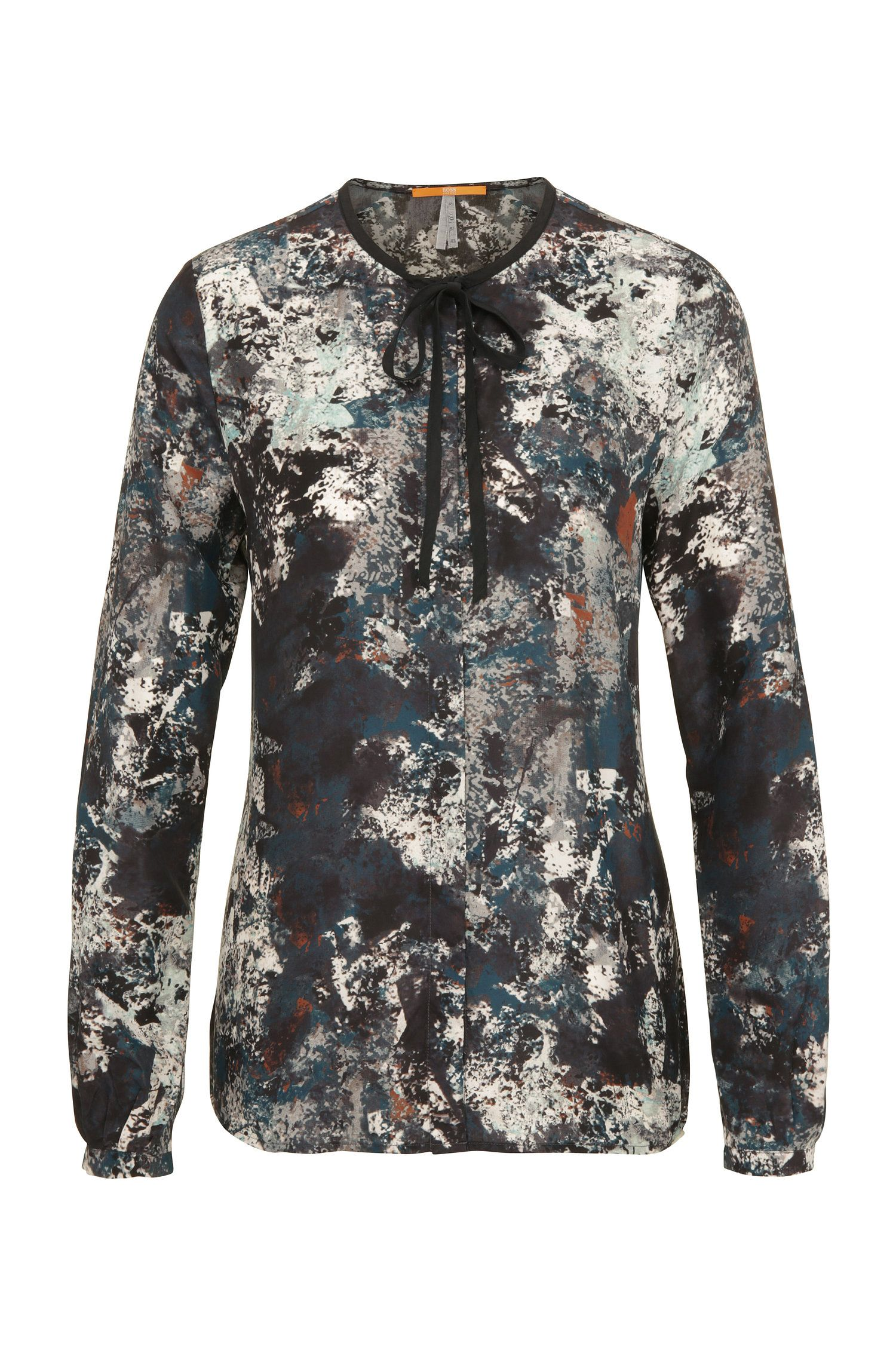 Relaxed-fit silk blouse with print: 'Callai'