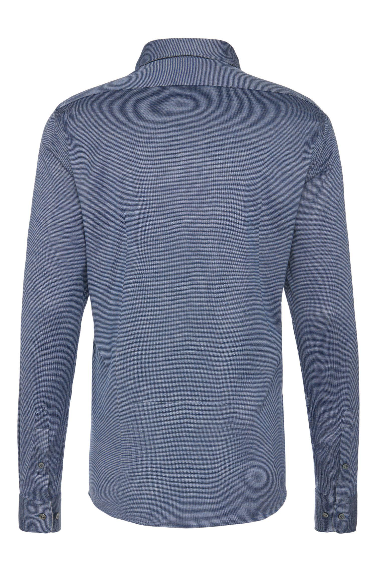 Gemustertes Regular-Fit Hemd aus Baumwolle und Seide: 'T-Landon_32F'