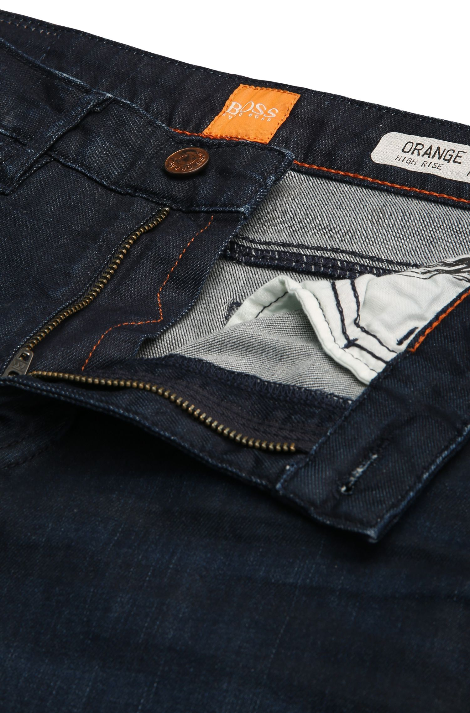 Jeans Flared en coton stretch : « Orange J50 Geneve »