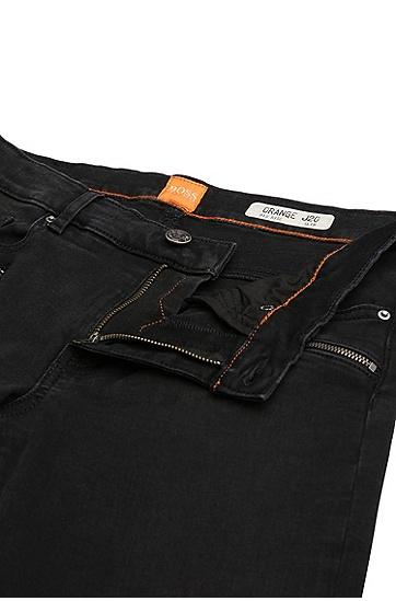 Slim-Fit Biker-Jeans aus elastischem Baumwoll-Mix: ´Orange J20 Dundee`, Schwarz