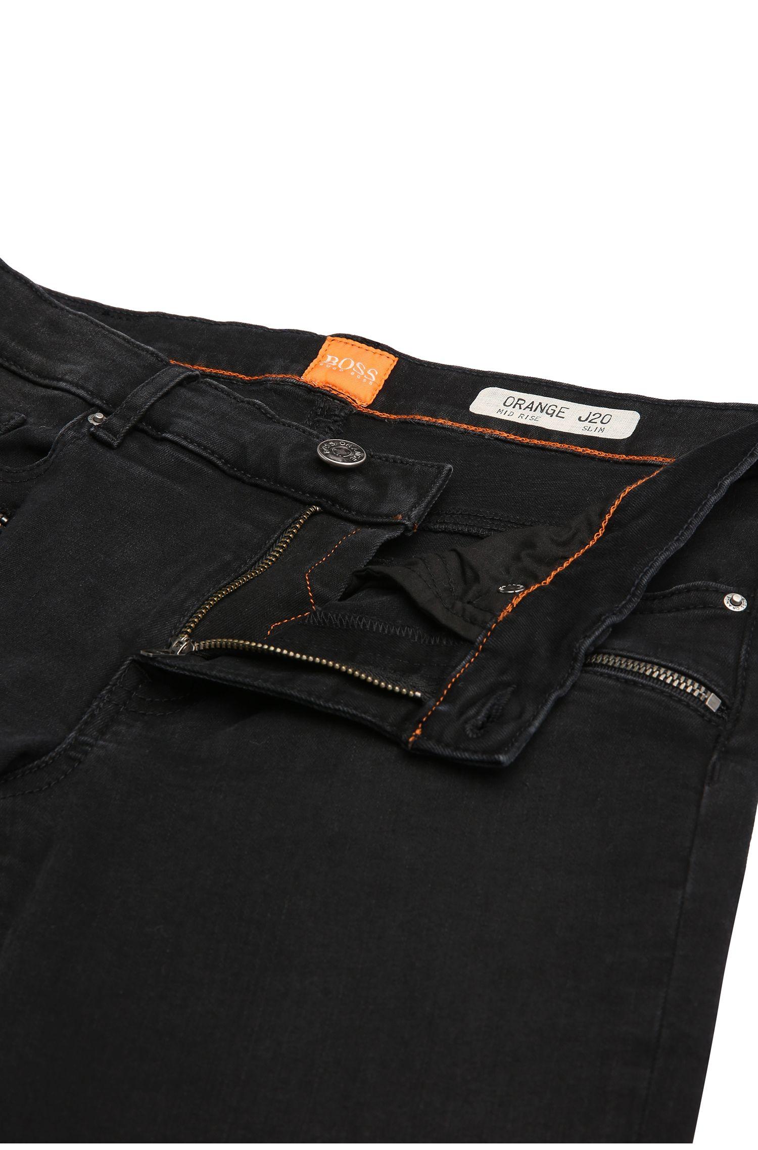 Jeans motard Slim Fit en coton extensible mélangé: «Orange J20 Dundee»