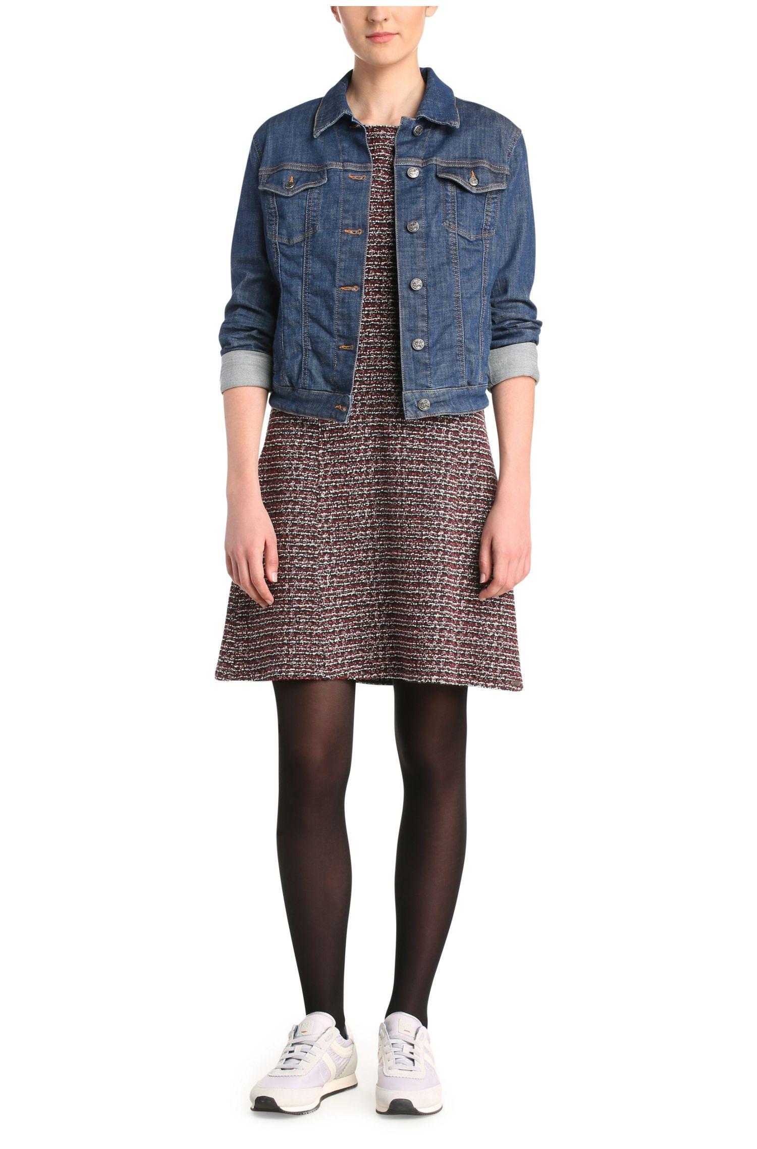 Jeansjacke aus elastischem Baumwoll-Mix: ´JEANS_JACKET_H`